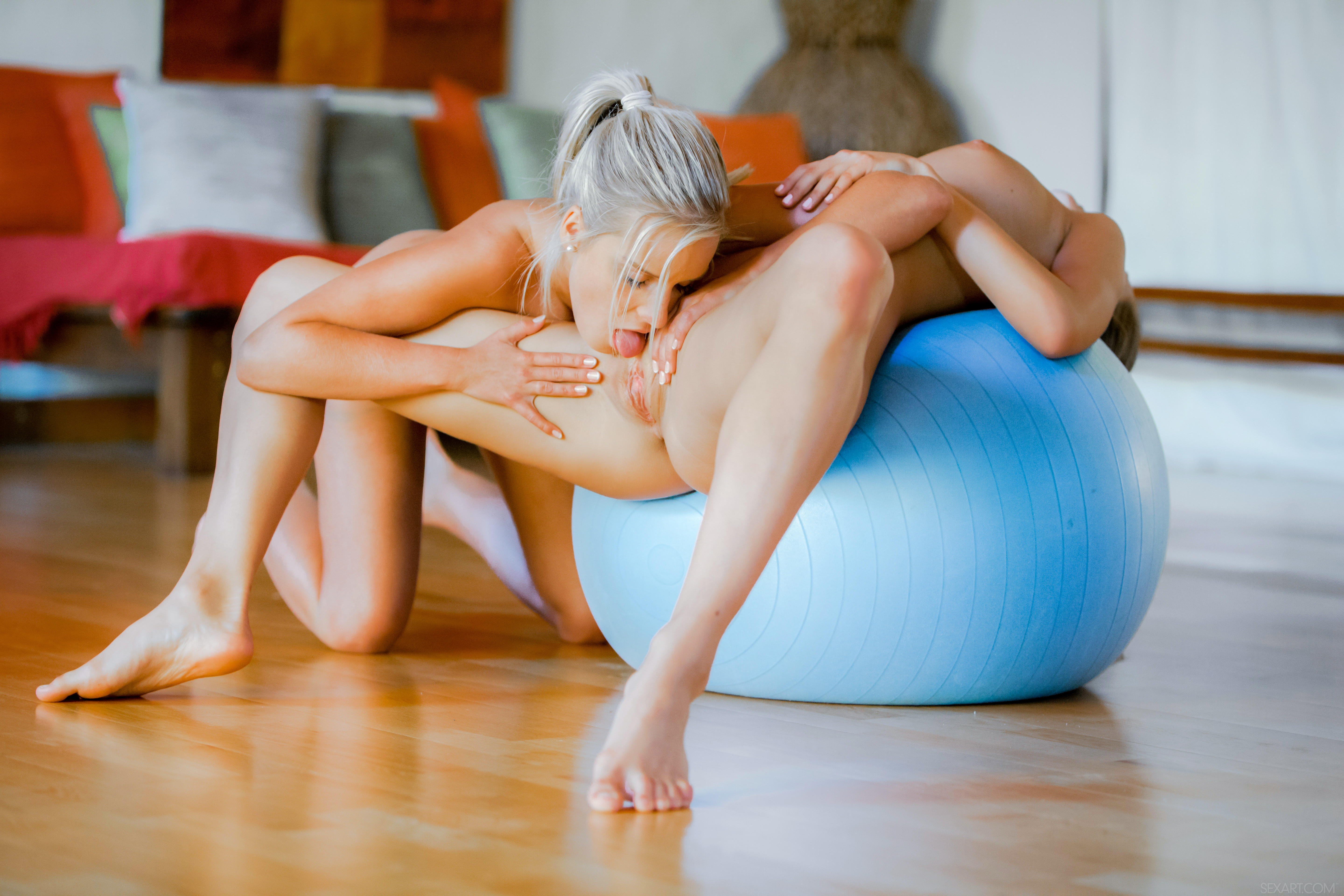 exercise equipment Lesbian sex with