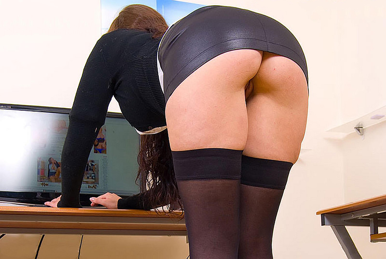 pussy upskirt Leather