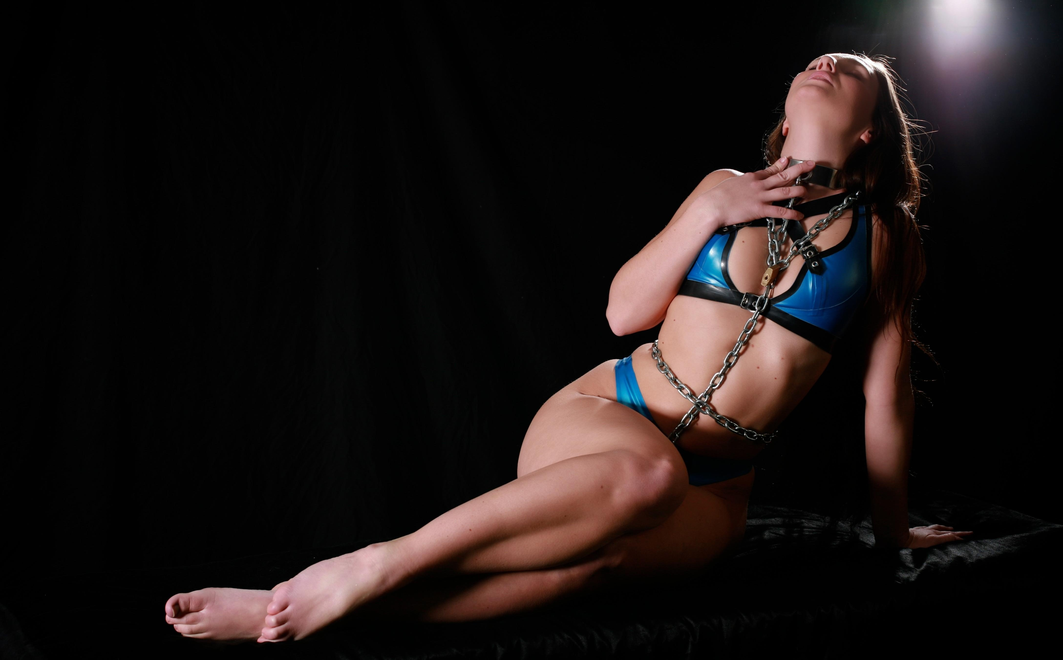 Clothed sexy girls in bondage has