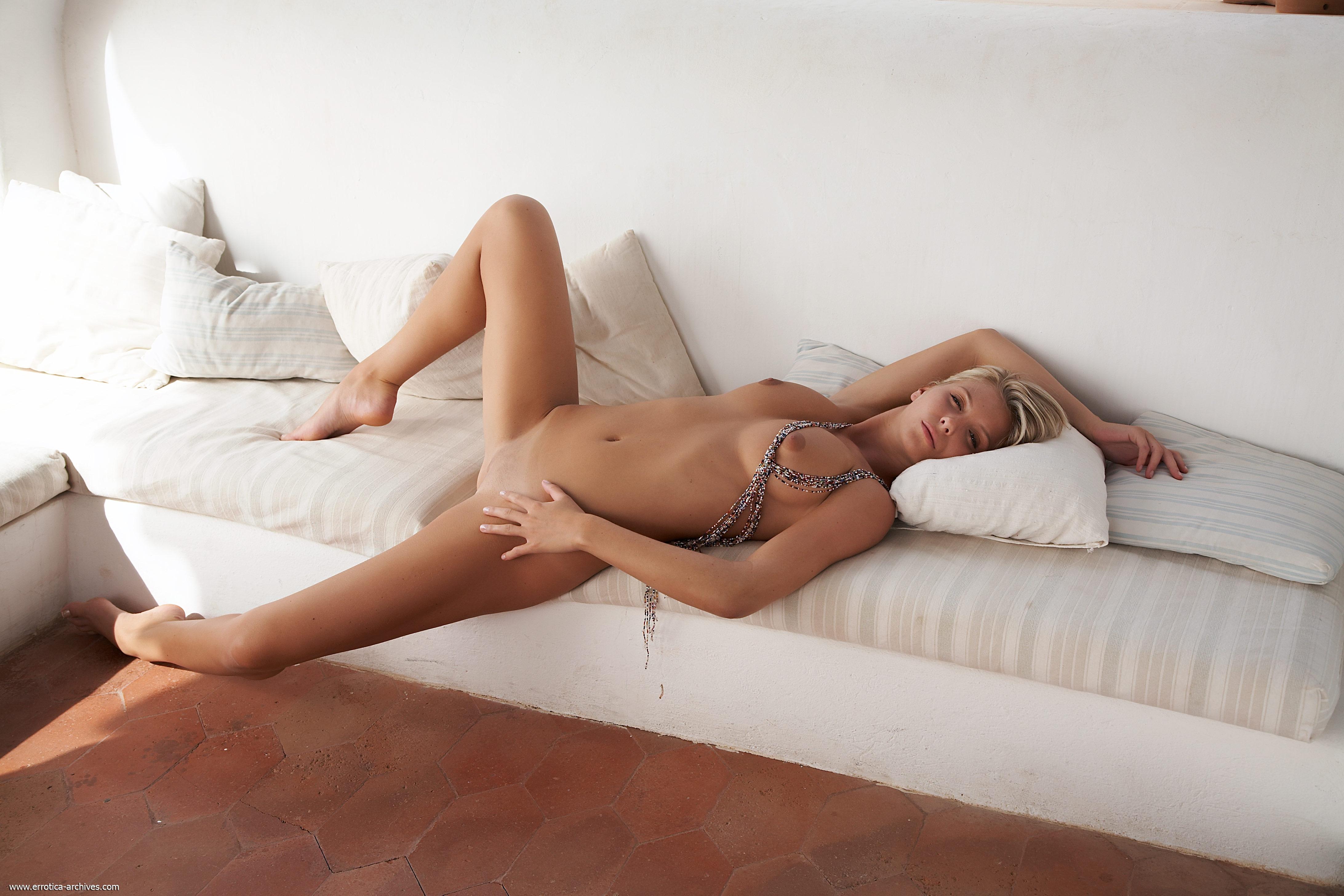 Wallpaper Danae, Blonde, Czech Girl, Hires, Solo, Sofa -2679