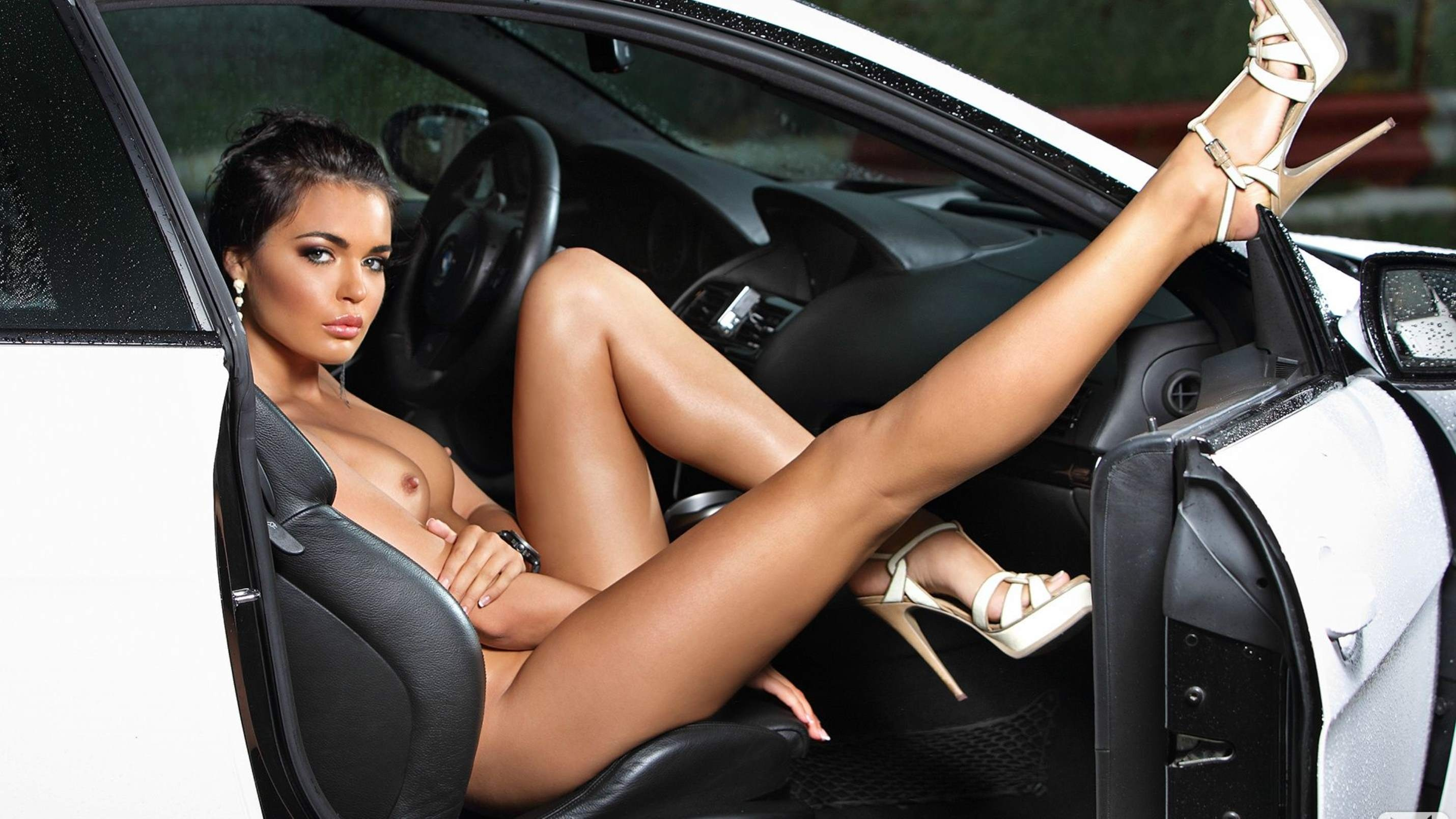 Nude woman hot cars