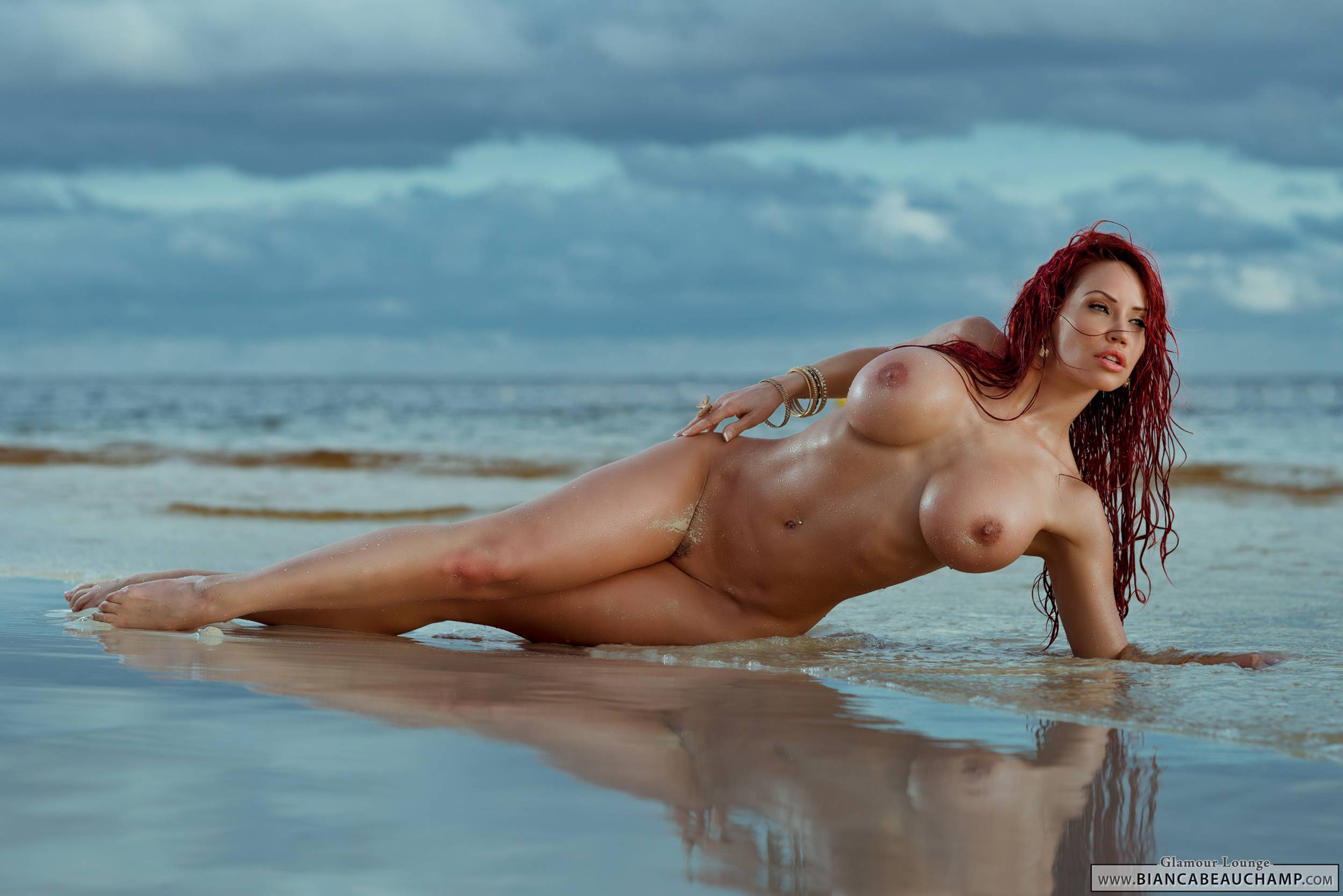 Wallpaper Bianca Beauchamp, Sand, Water, Nude, Outdoors -4671