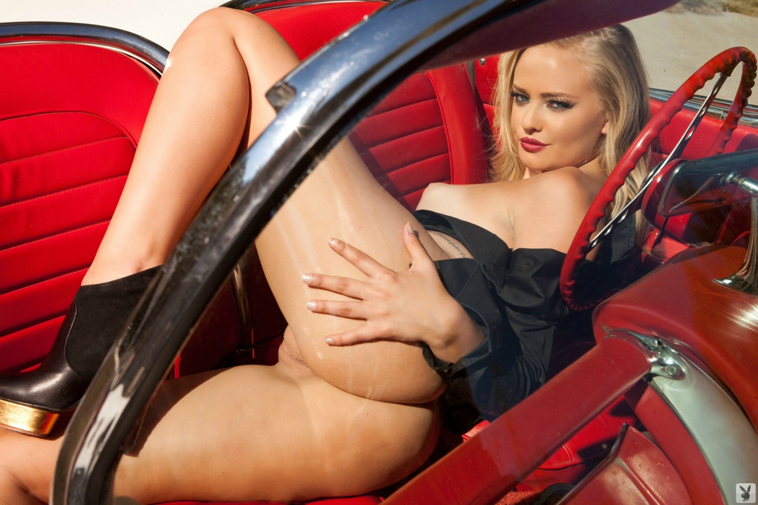 nude blog red hot corvette