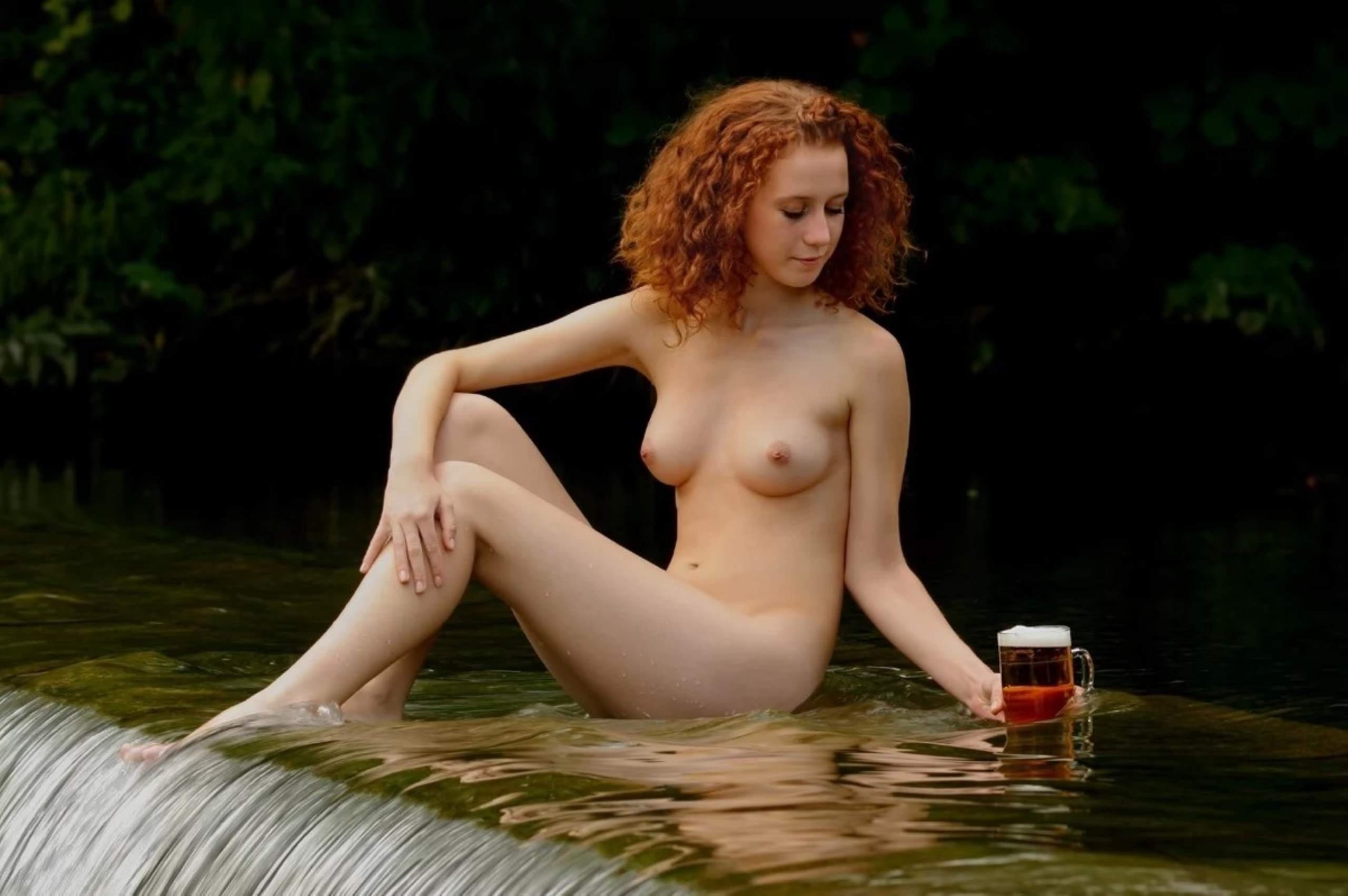 Beer girl naked