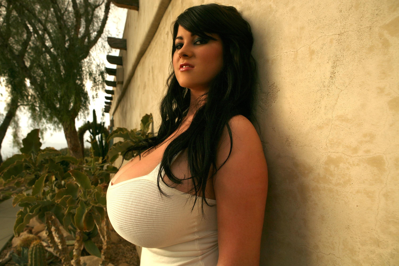 Wallpaper Rachel Aldana, Model, Brunette, Big Boobs, Huge -8036