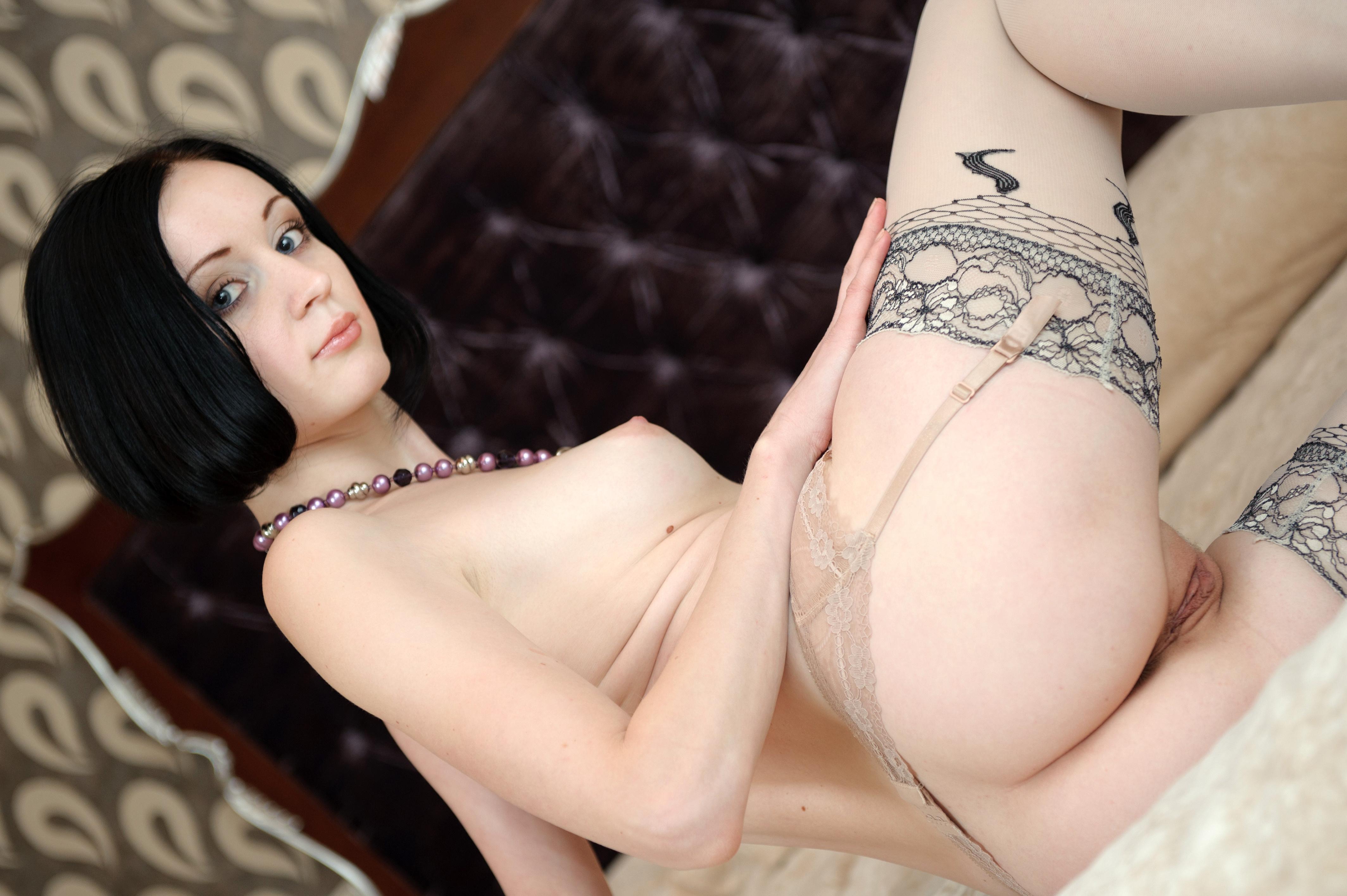 Wallpaper Margo E, Lingerie, Erect Nipples, Small Tits -5630