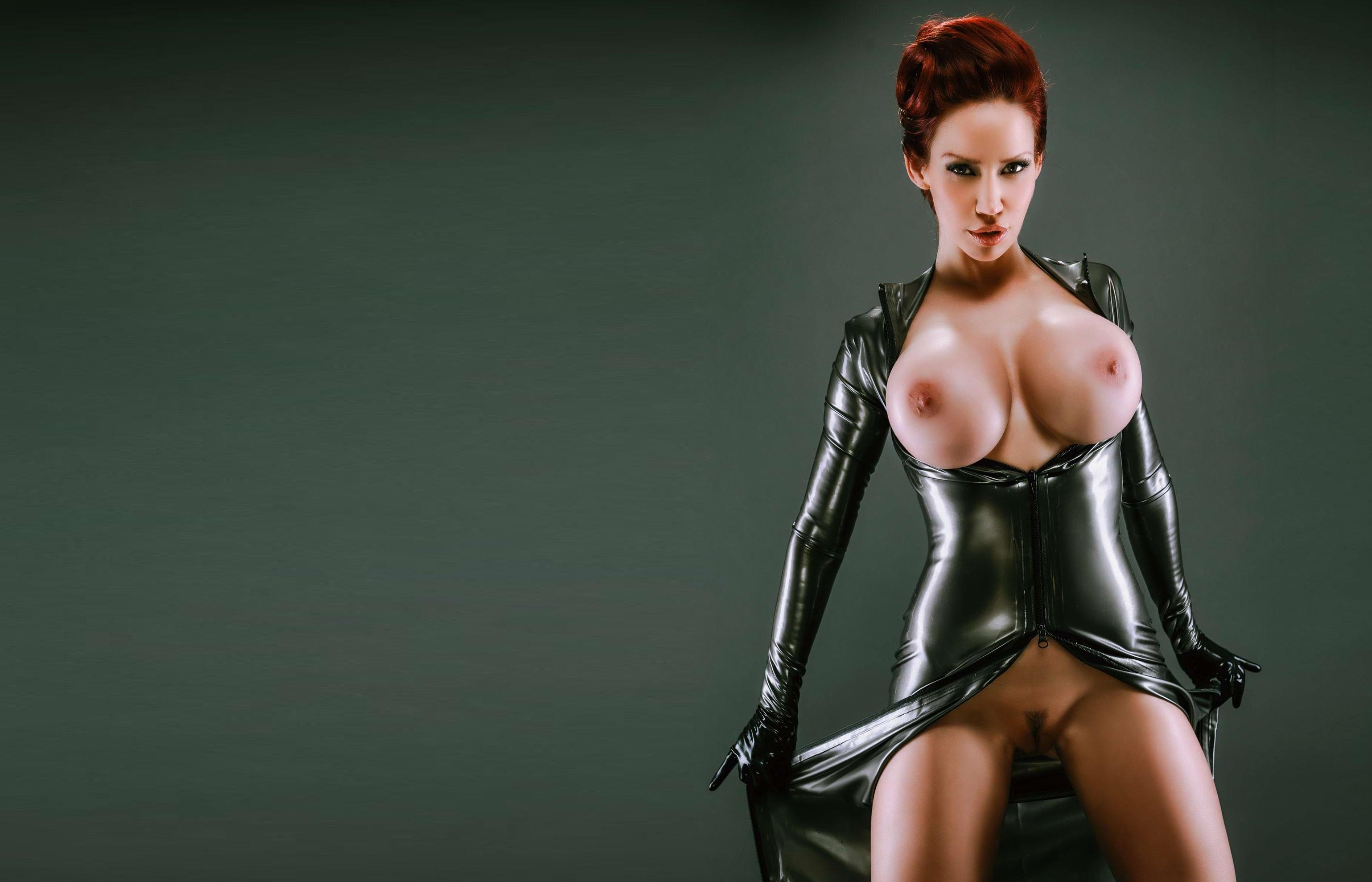 hot nude redheads in latex