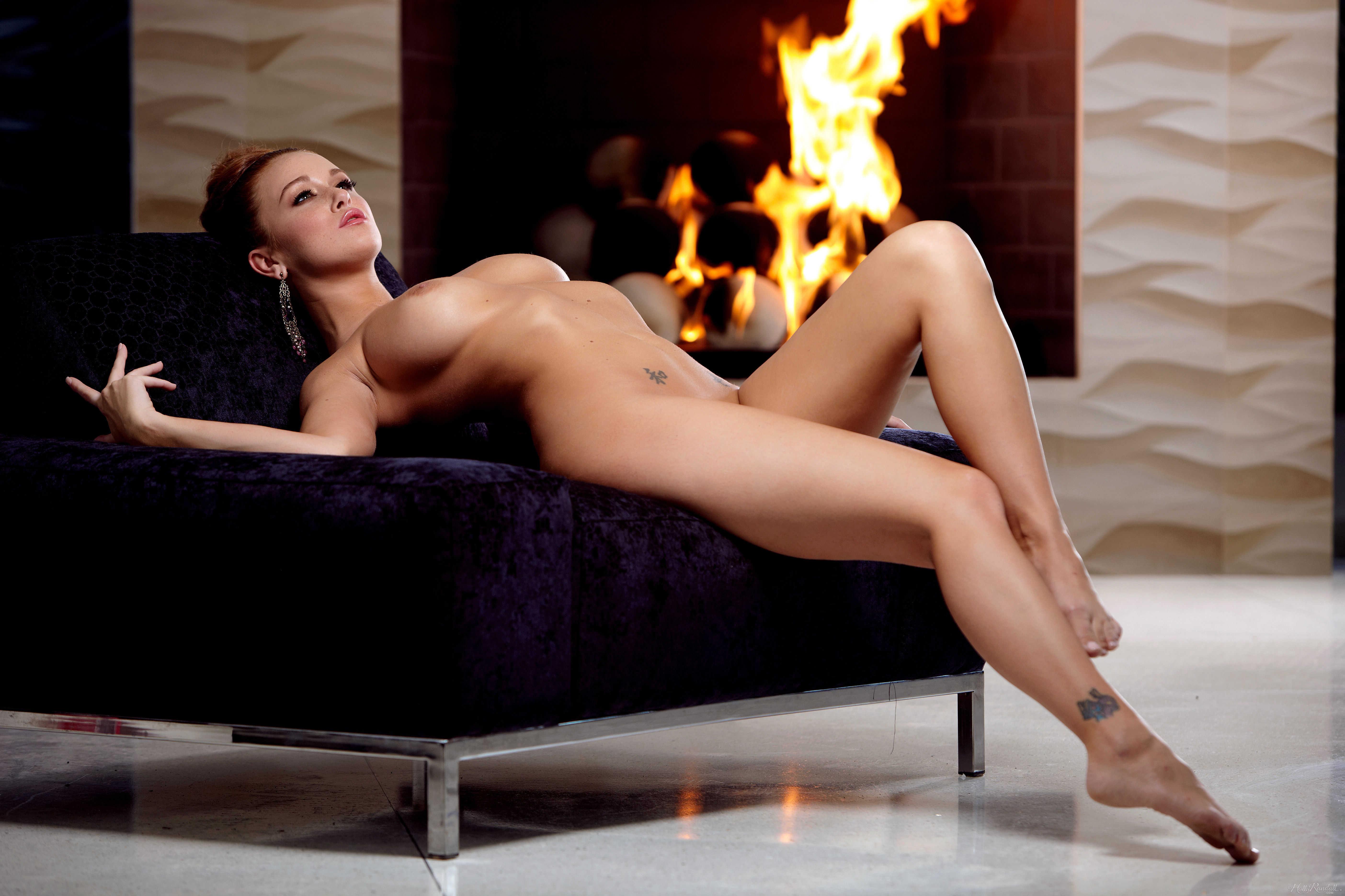 Wallpaper leanna decker, nude, fire, room, sexy, boobs ...