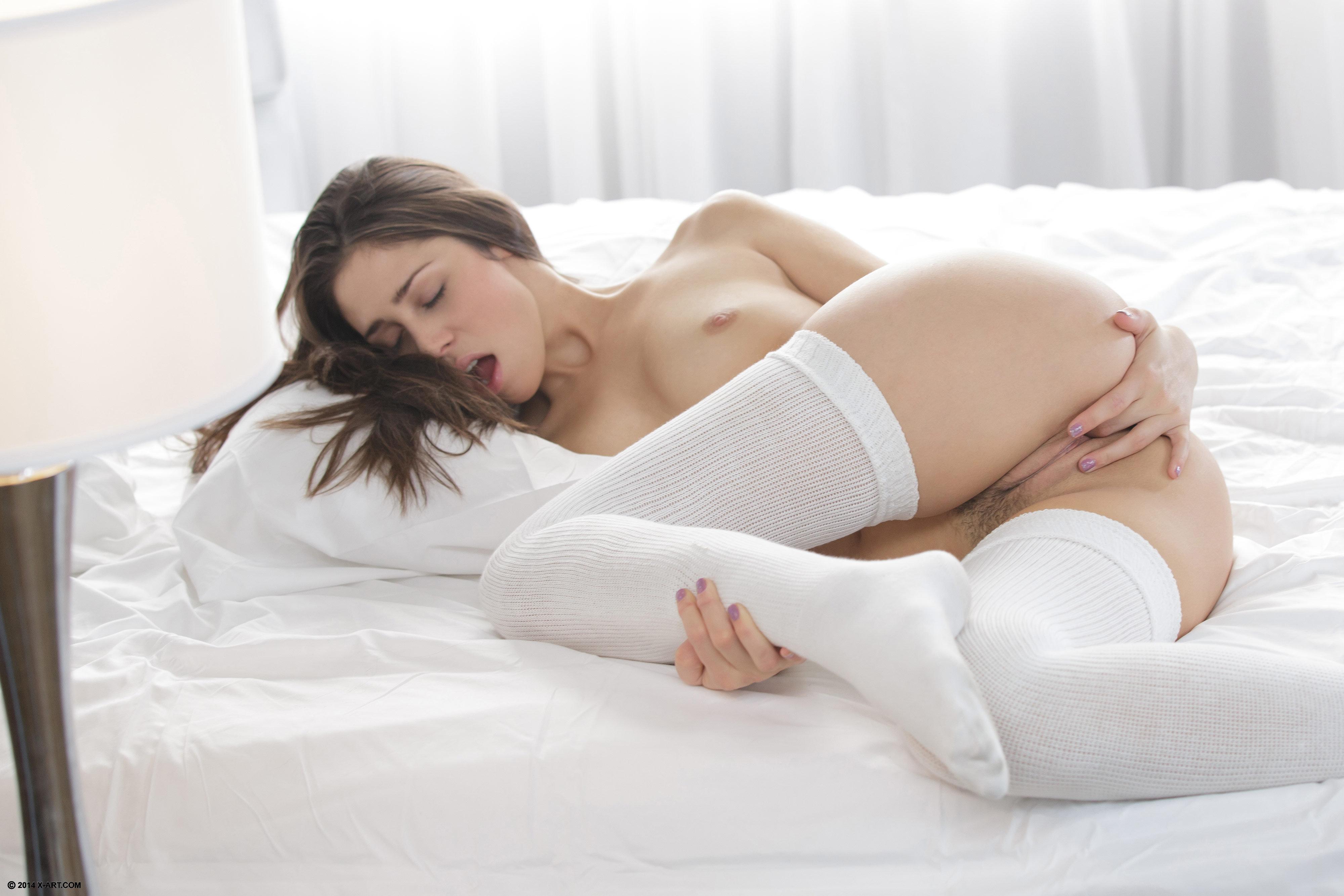 White stocking solo