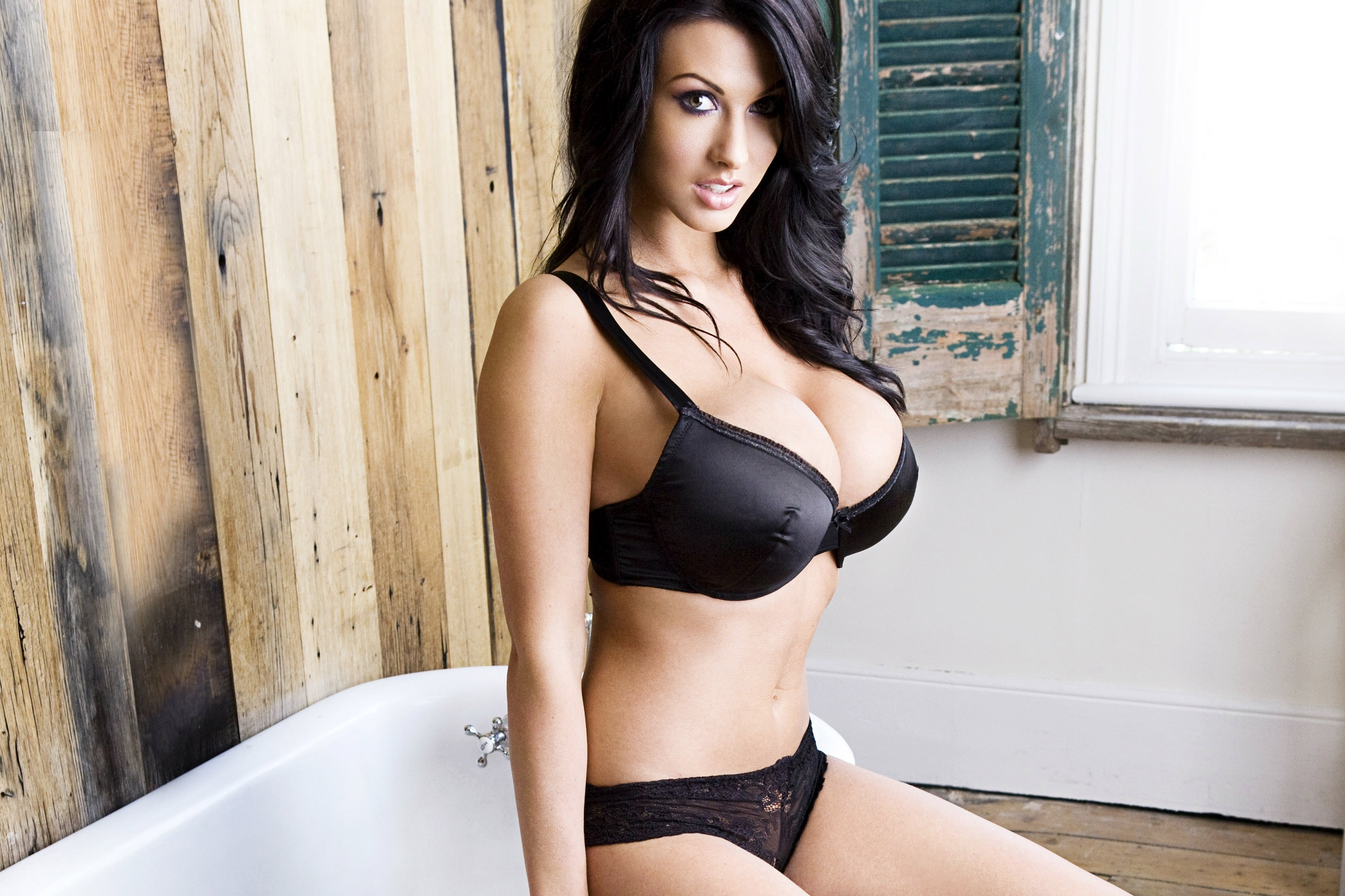 Wallpaper Alice Goodwin, Model, Amazing, Brunette, Big -4794