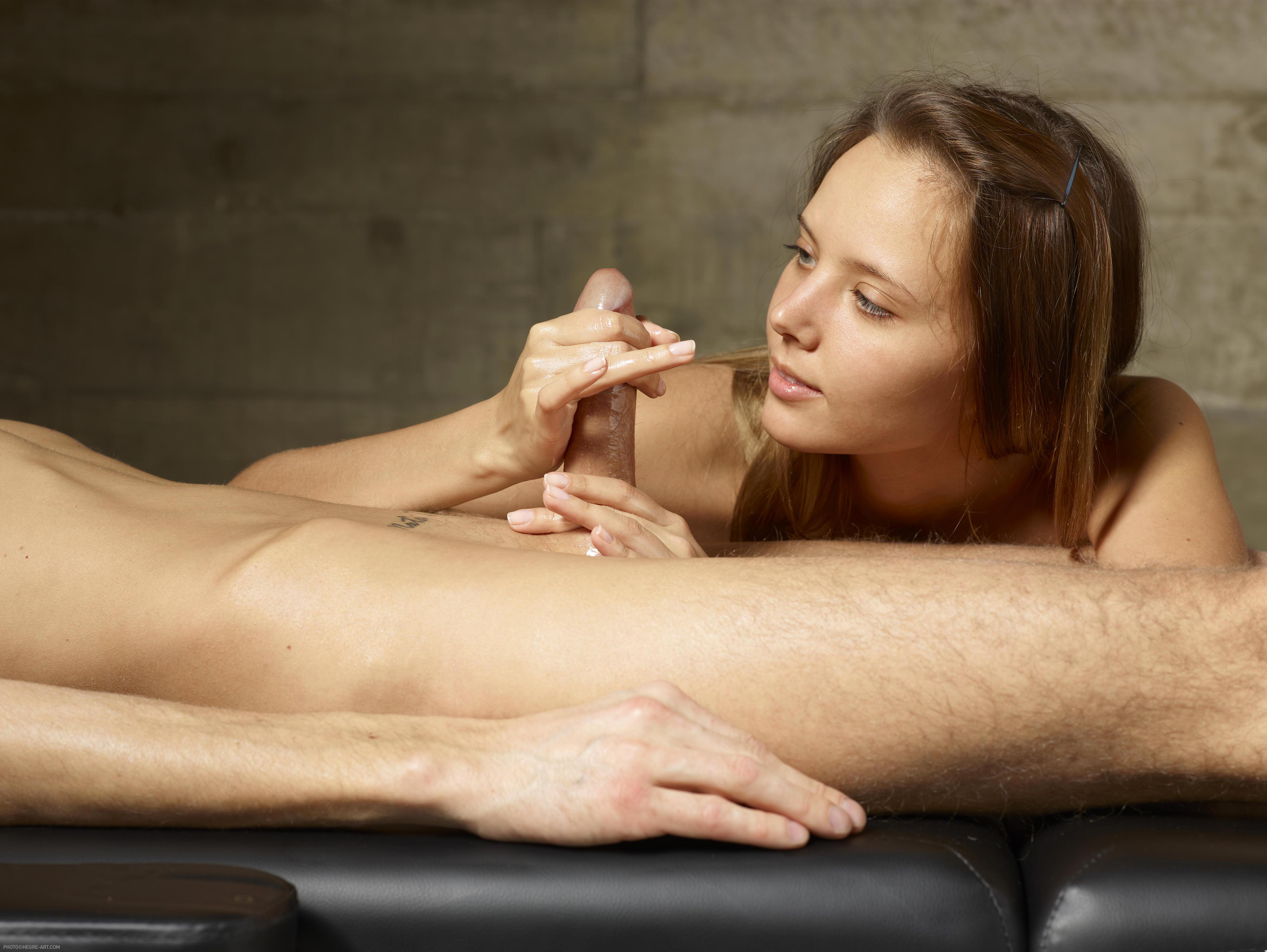 artistic nude blow job