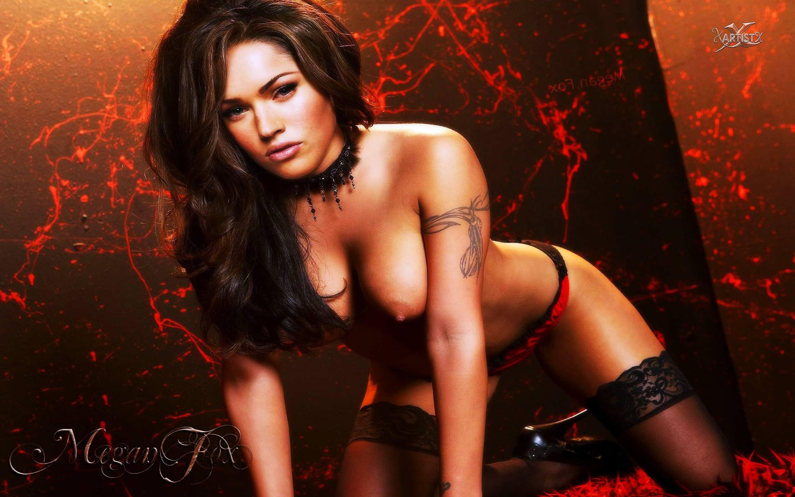 Wallpaper Megan Fox, Actress, Fake, Hot, Boobs, Tits -8015
