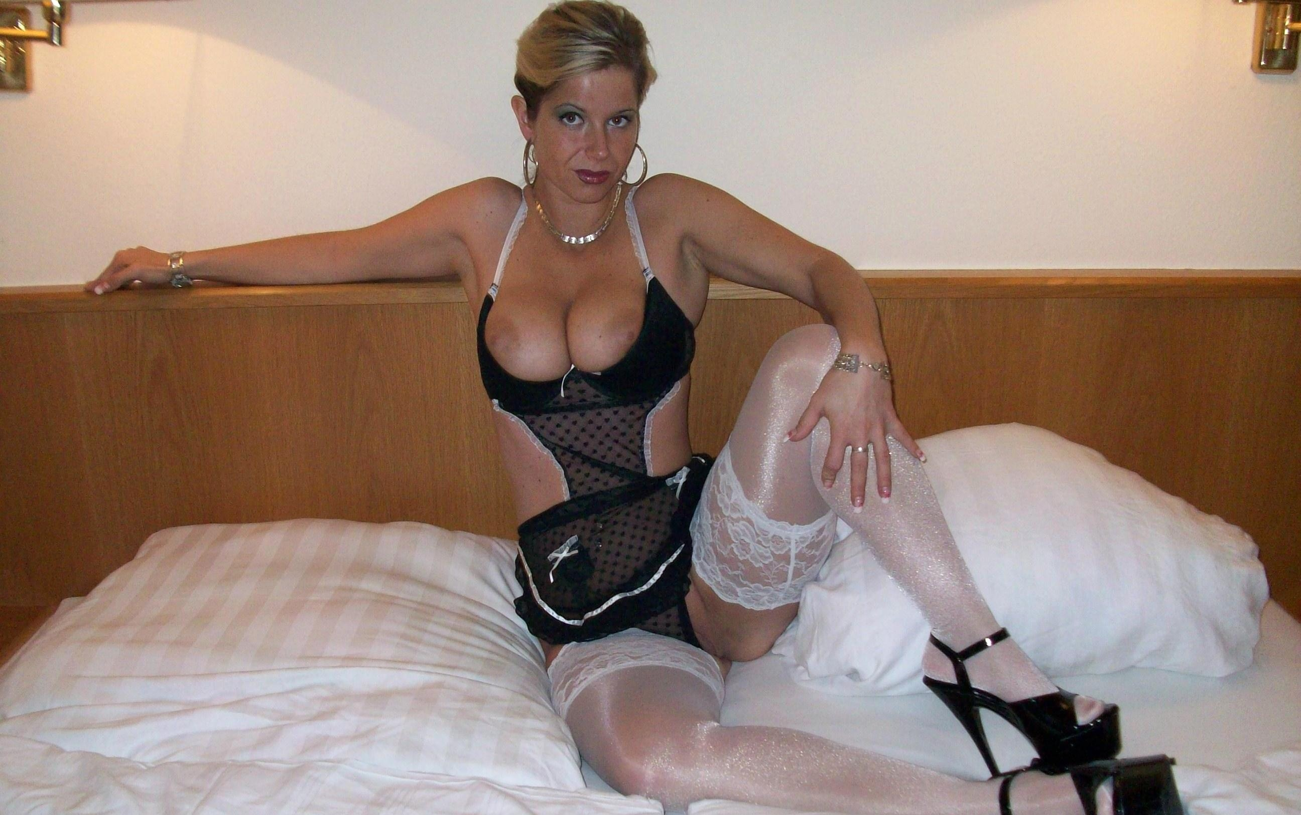 Amateur blonde white lingerie stockings accept. The