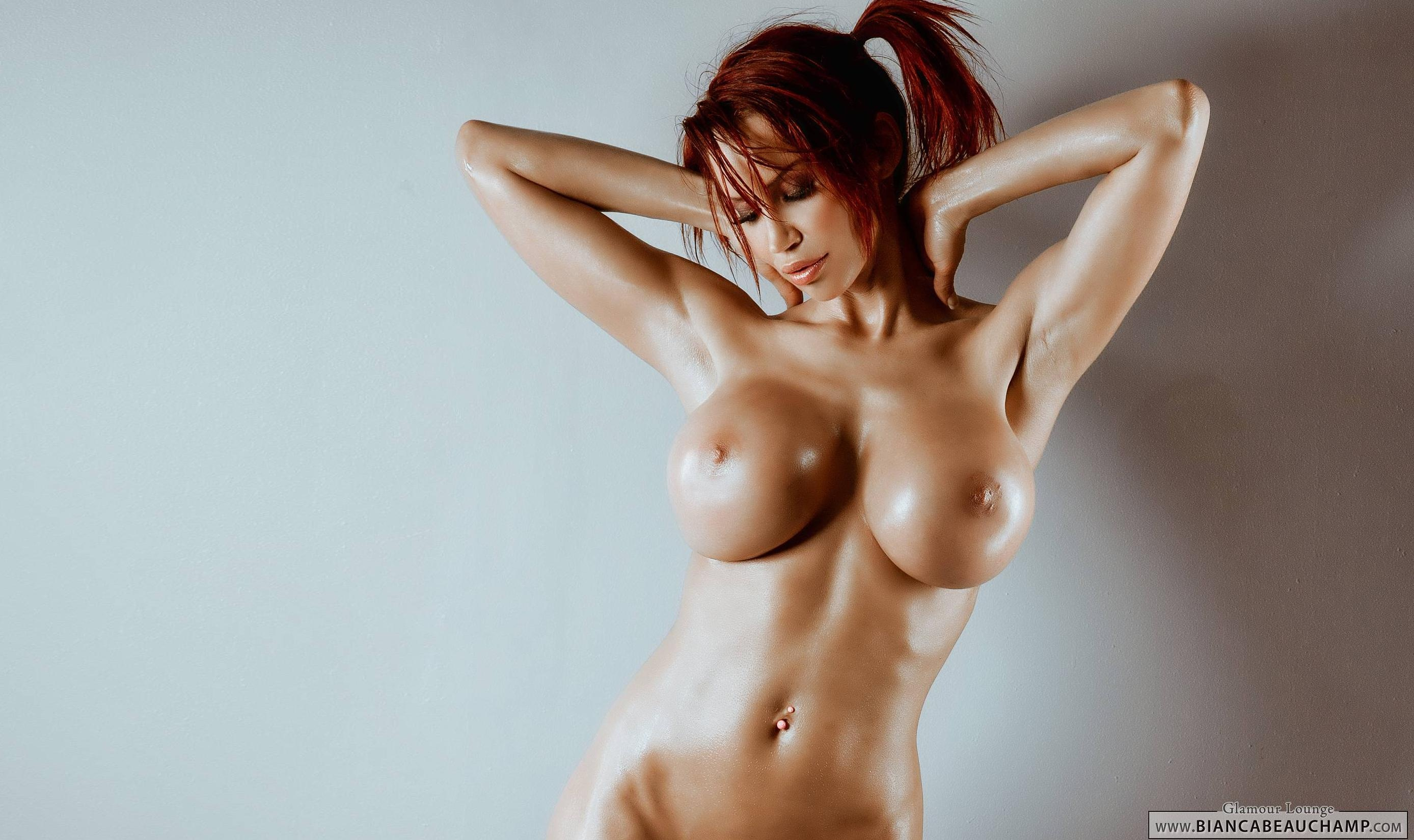 Wallpaper Bianca Beauchamp, Canadian, Fetish Supermodel, Redhead, Long -1495