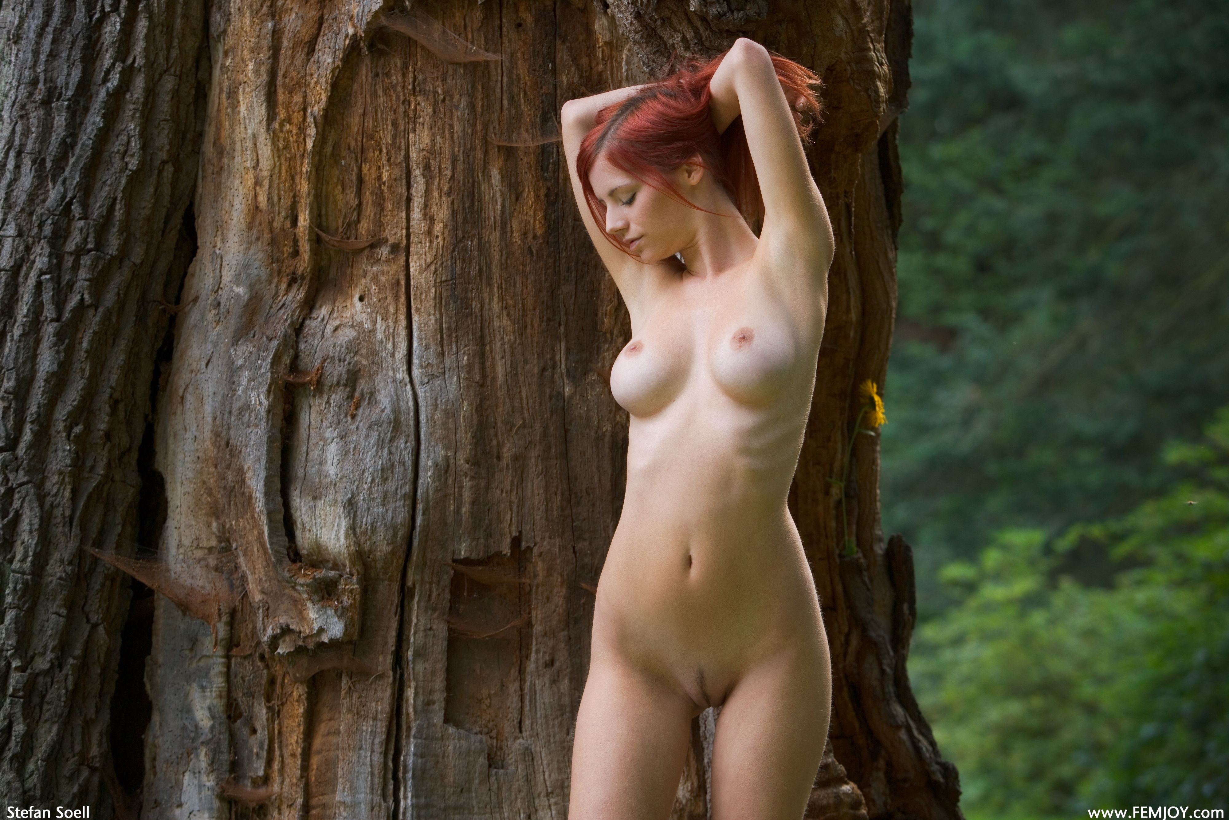 nude redhead girls in forest
