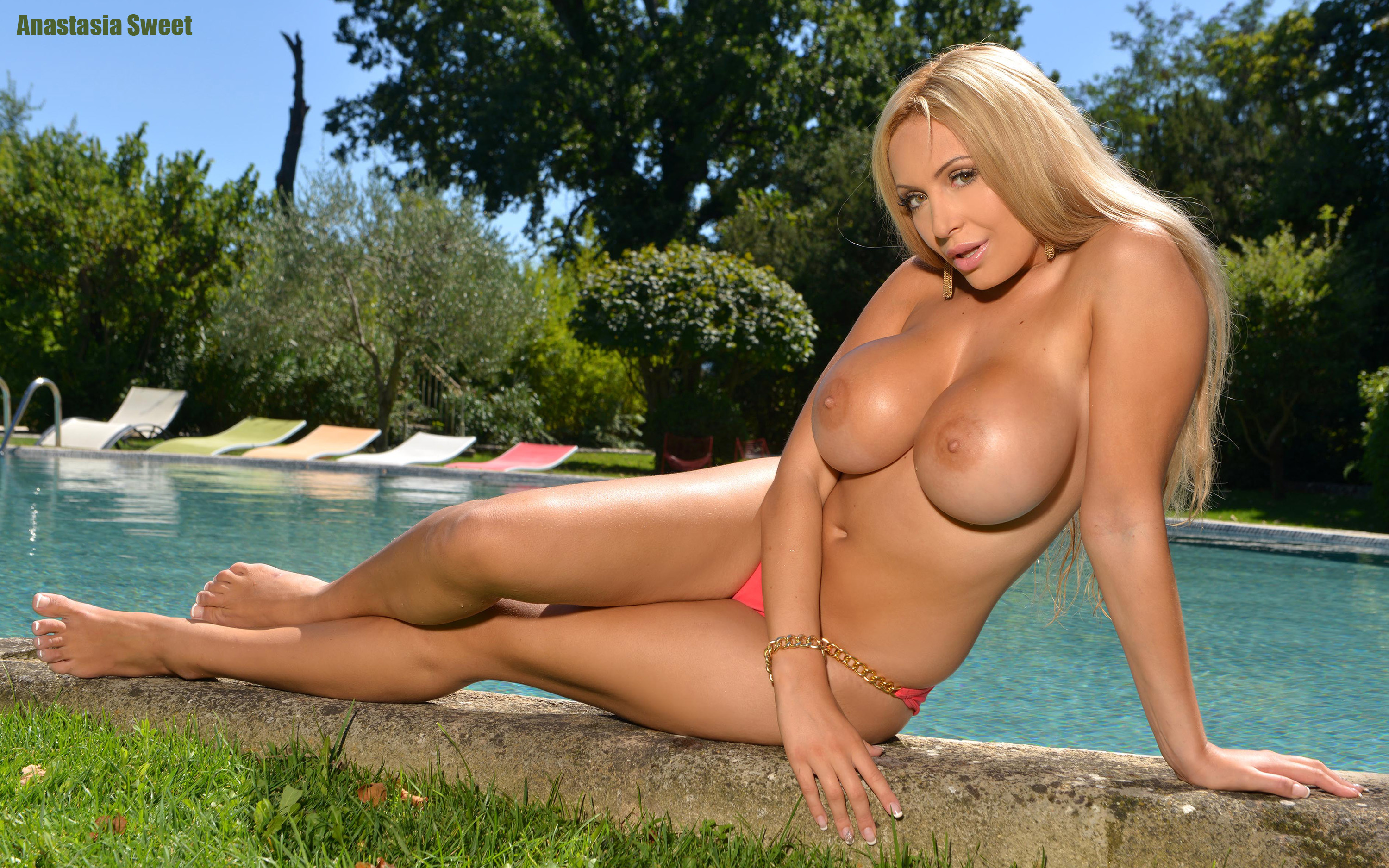 Wallpaper Anastasia Sweet, Hot, Blonde, Big, Tits, Amazing -1458