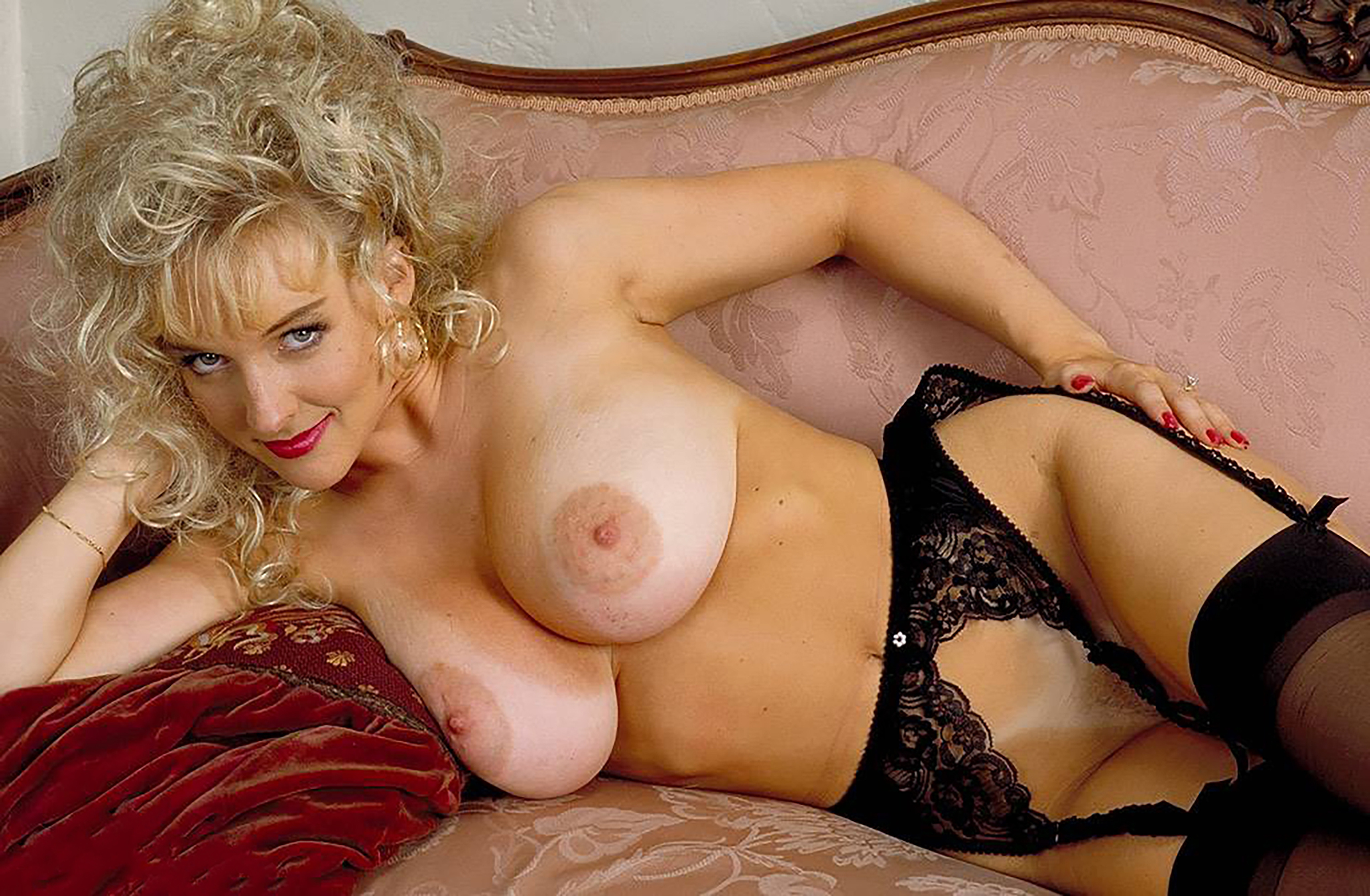 Wallpaper Danni Ashe, Blonde, Stockings, Lingerie, Tits -7460
