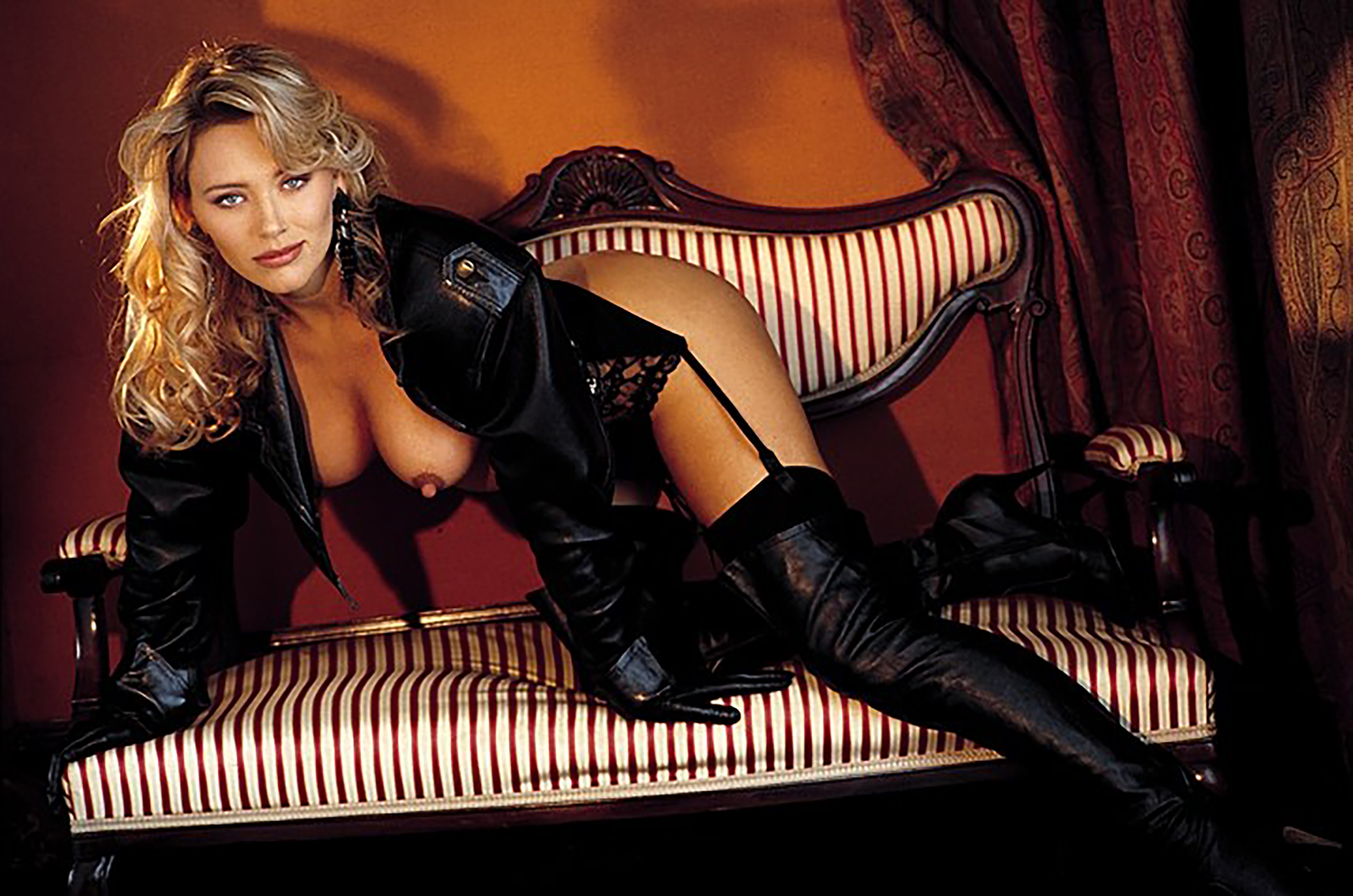 Happens. Let's Playmate in leather boots
