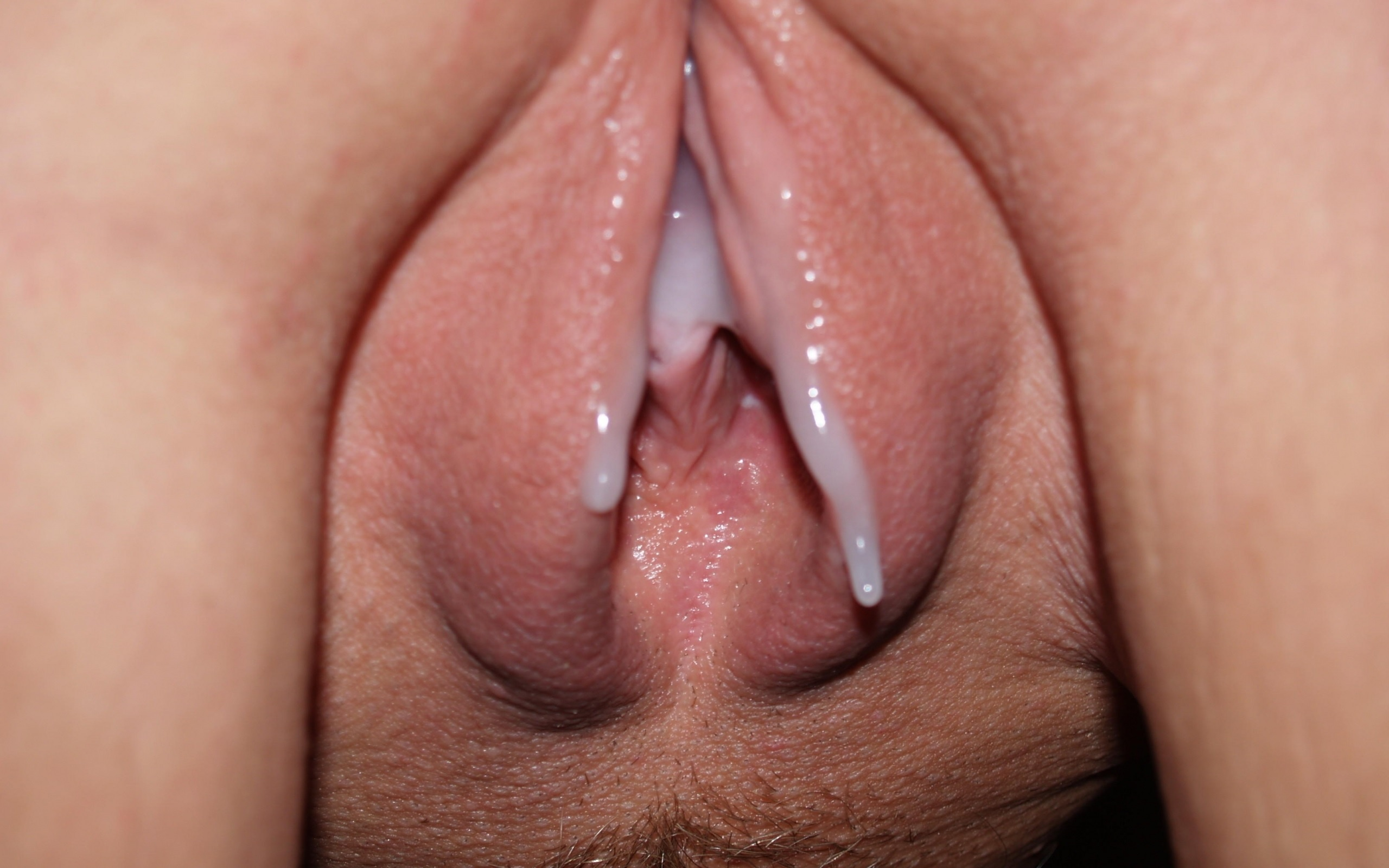 Creampie All Up White Pussy