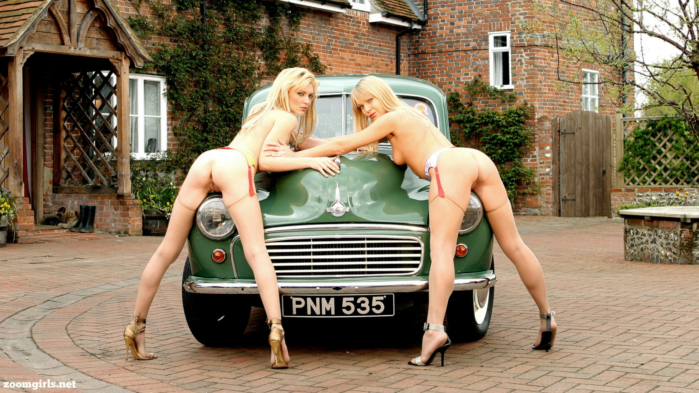from Armani girls modeling naked with cars