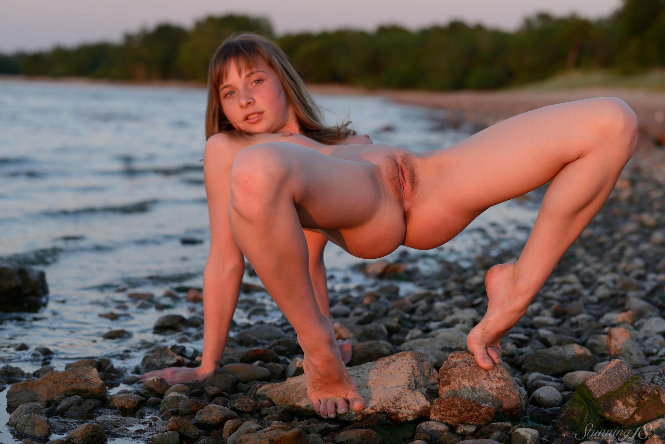 Sweet nudes on beach found site
