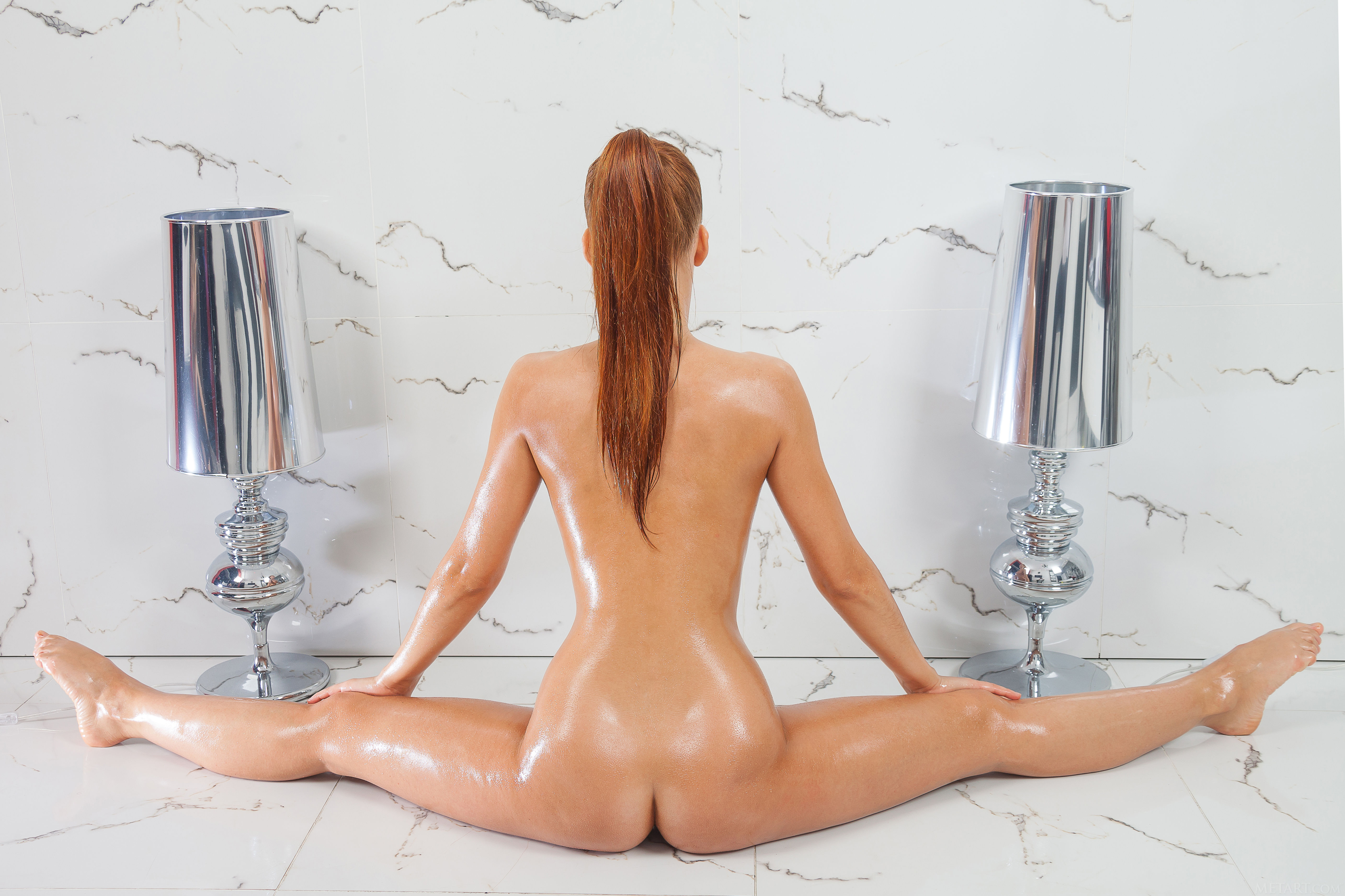 beautiful russian with oily ass
