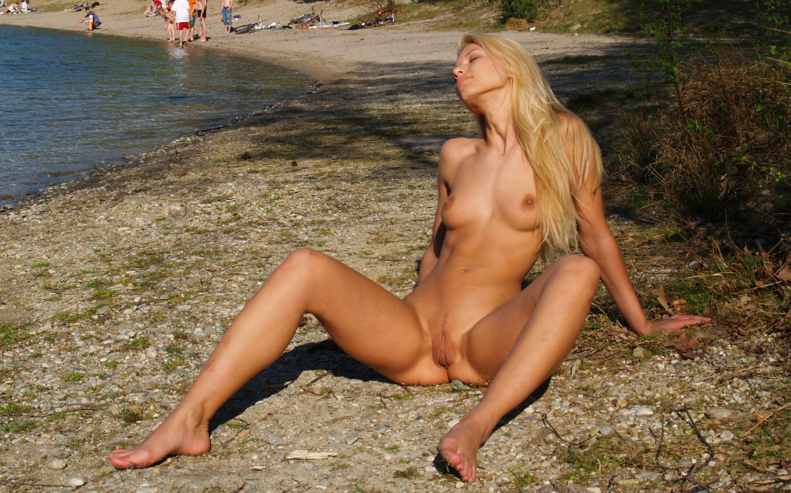 German nude beach girls are