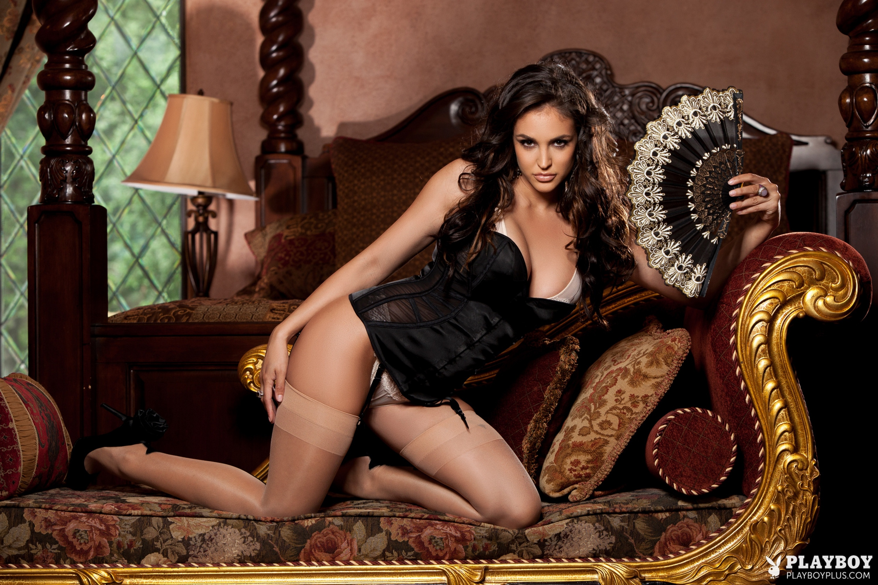 Wallpaper Jaclyn Swedberg, Playboy, Stockings, Lingerie -3953