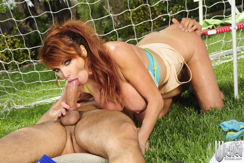 Virgin outdoor big cock redhead