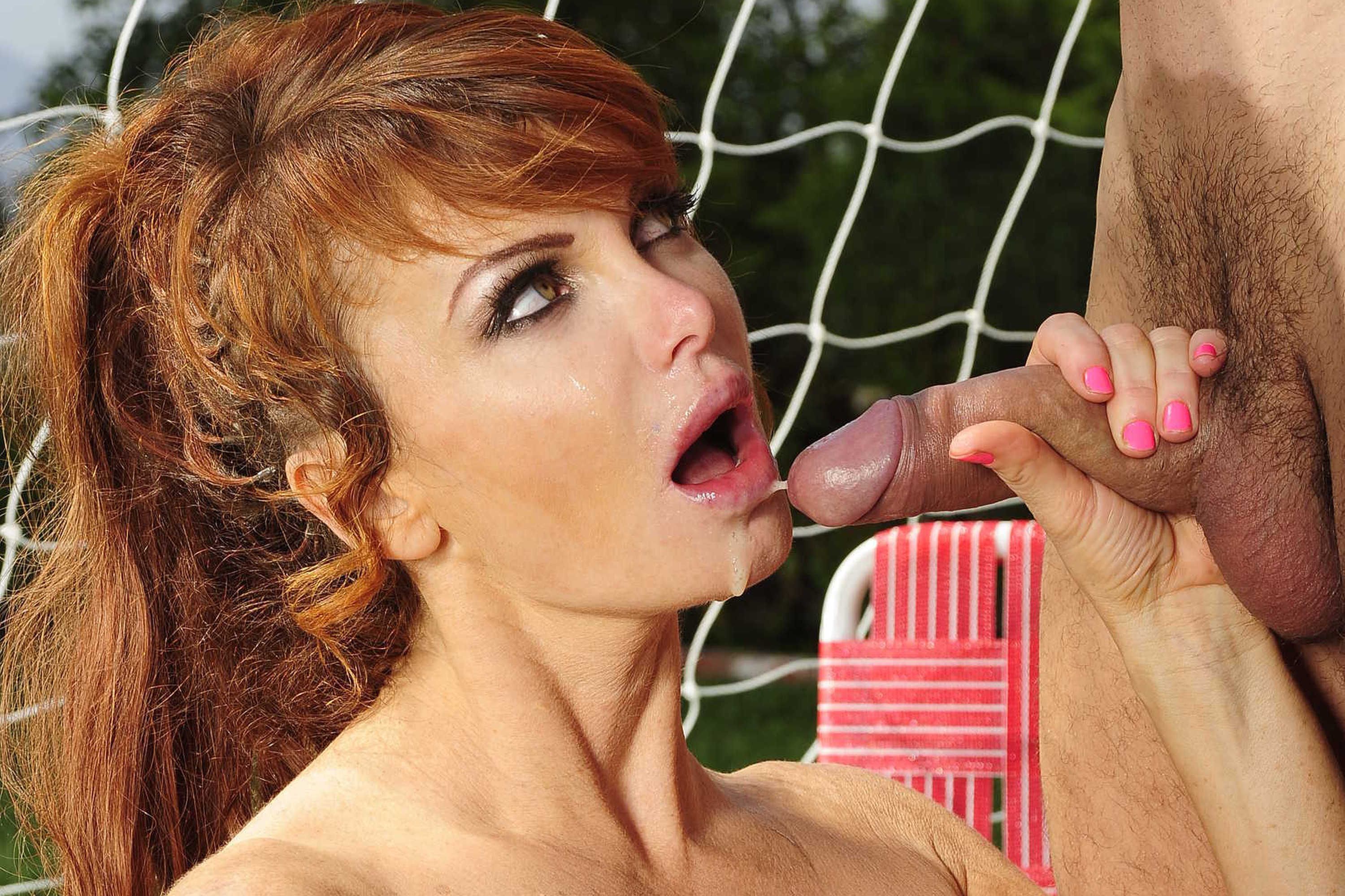 Remarkable, rather Redhead cum face girl