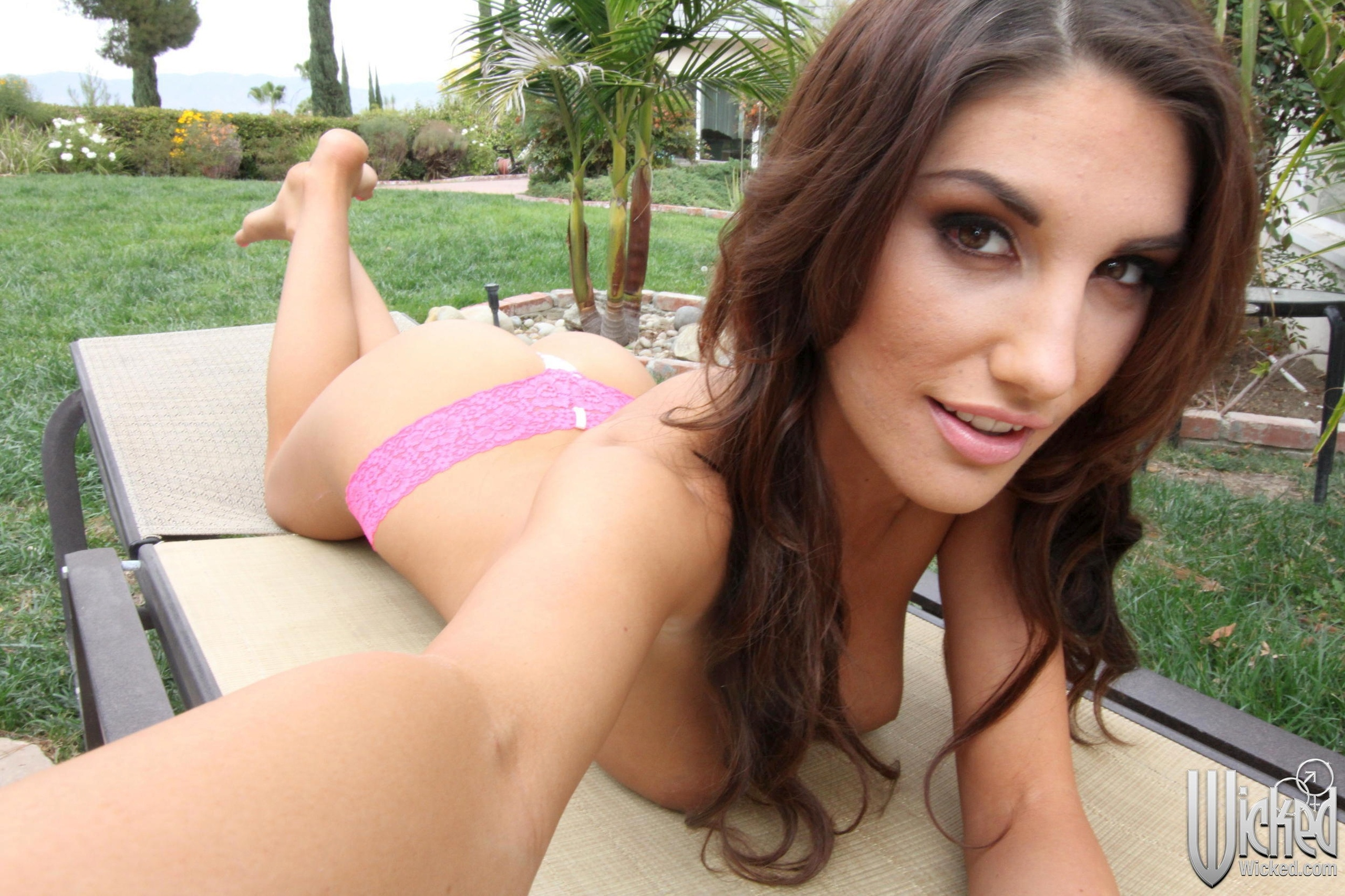 Wallpaper August Ames, Topless, Breasts, Boobies, Boobs -6357