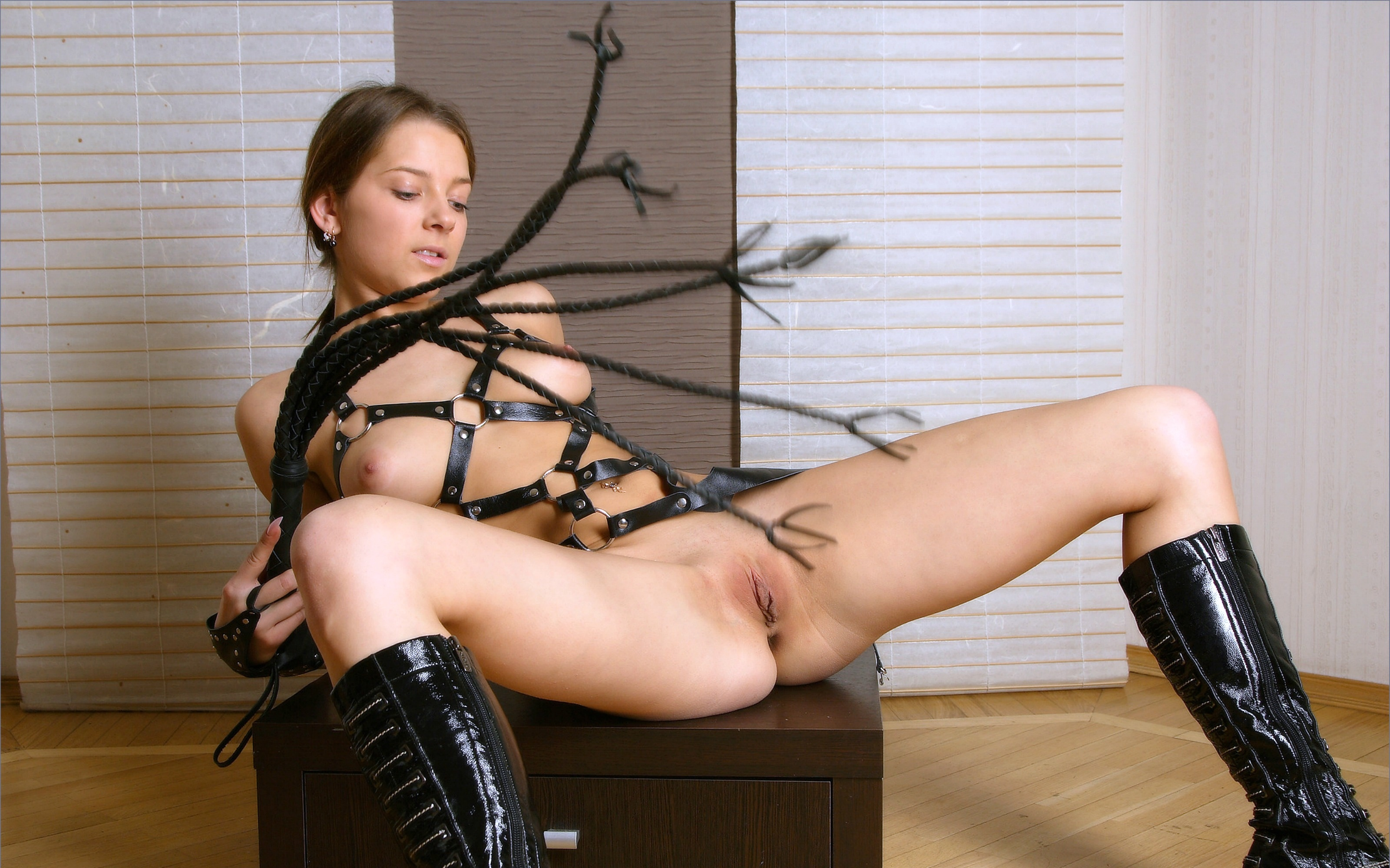 Wallpaper malisha, blonde, leather, whip, tits, nipples, shaved pussy,  spread legs, boots, anina, leather, harness, whip, teasing, shaved, cunt,  legs, ...