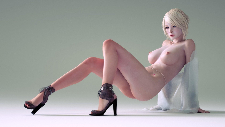 Wallpaper 3D Vector Girl, Blonde, Fantasy, Anime, Erotic -6532