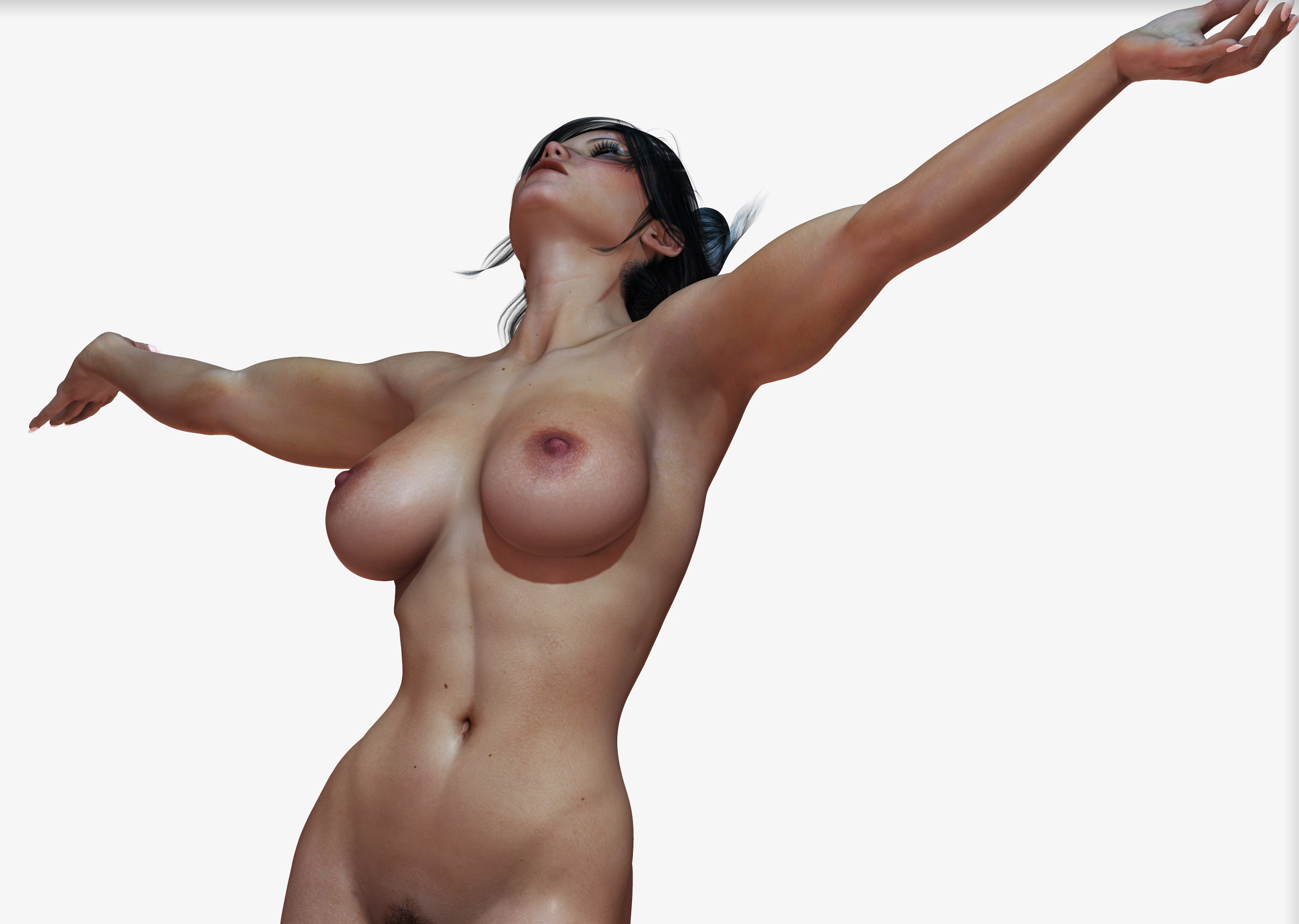 Naked animated woman