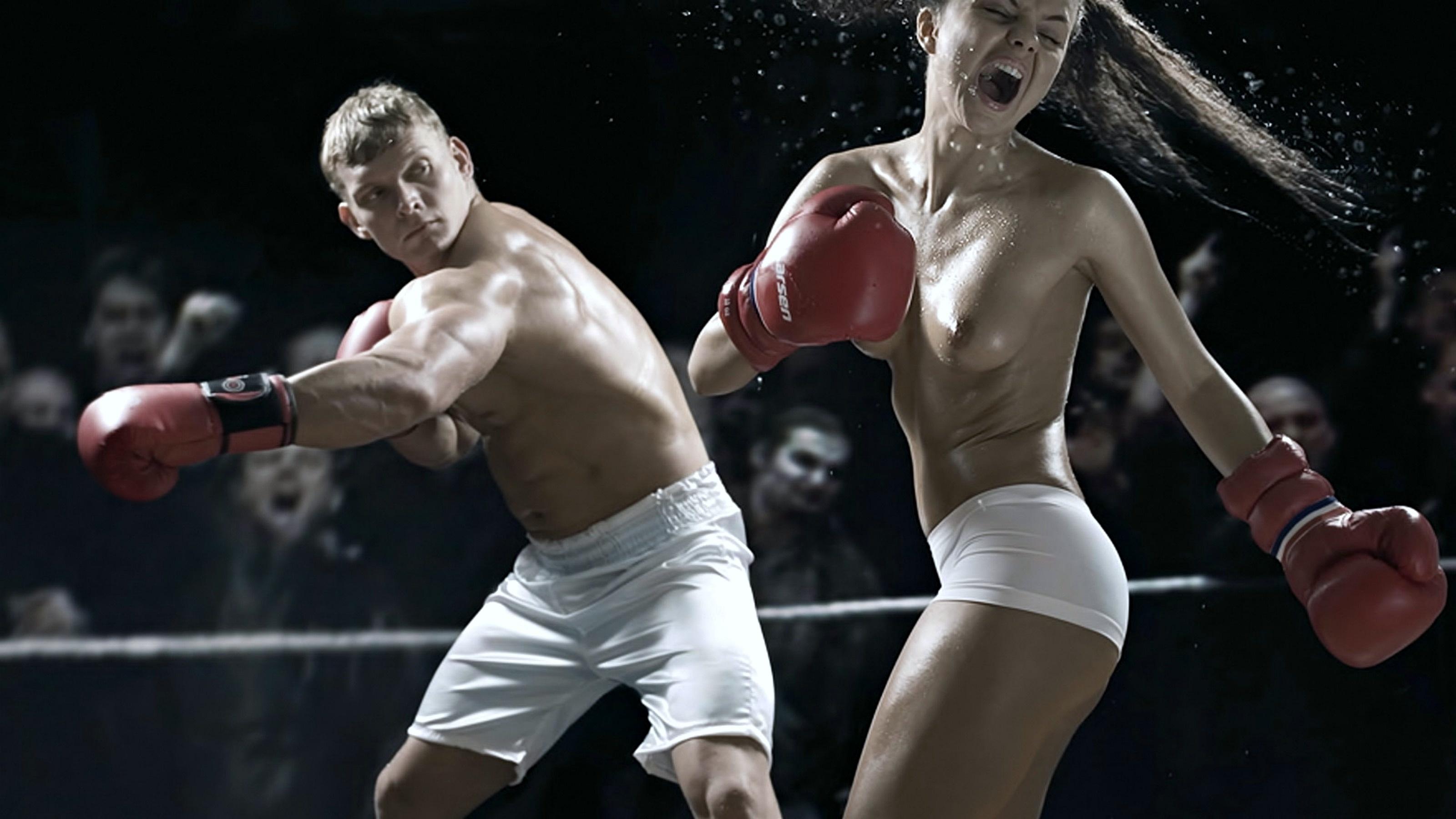 эротика наказание на ринге