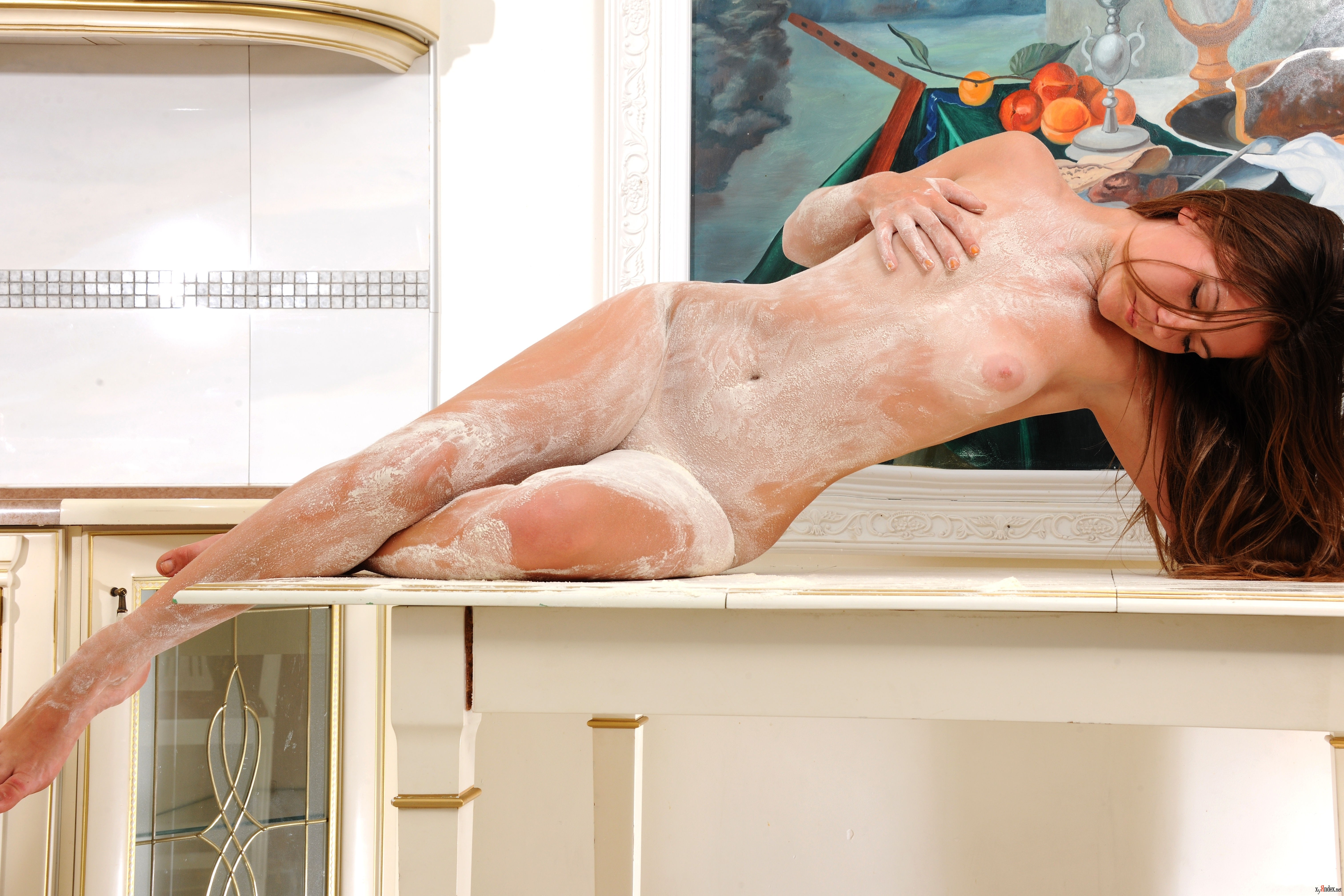 Wallpaper lila a, cute, young, beautiful, brunette, sexy ...