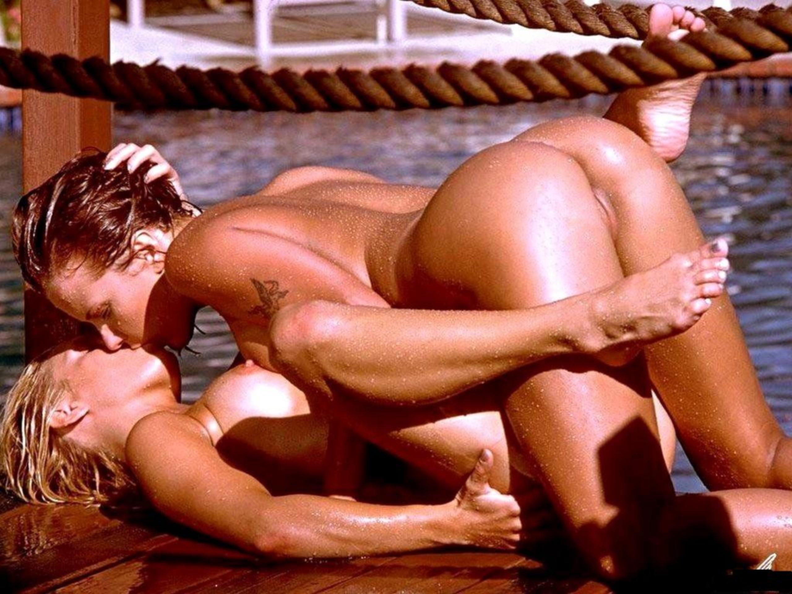 image Hot lesbian kissing and loving with carli banks