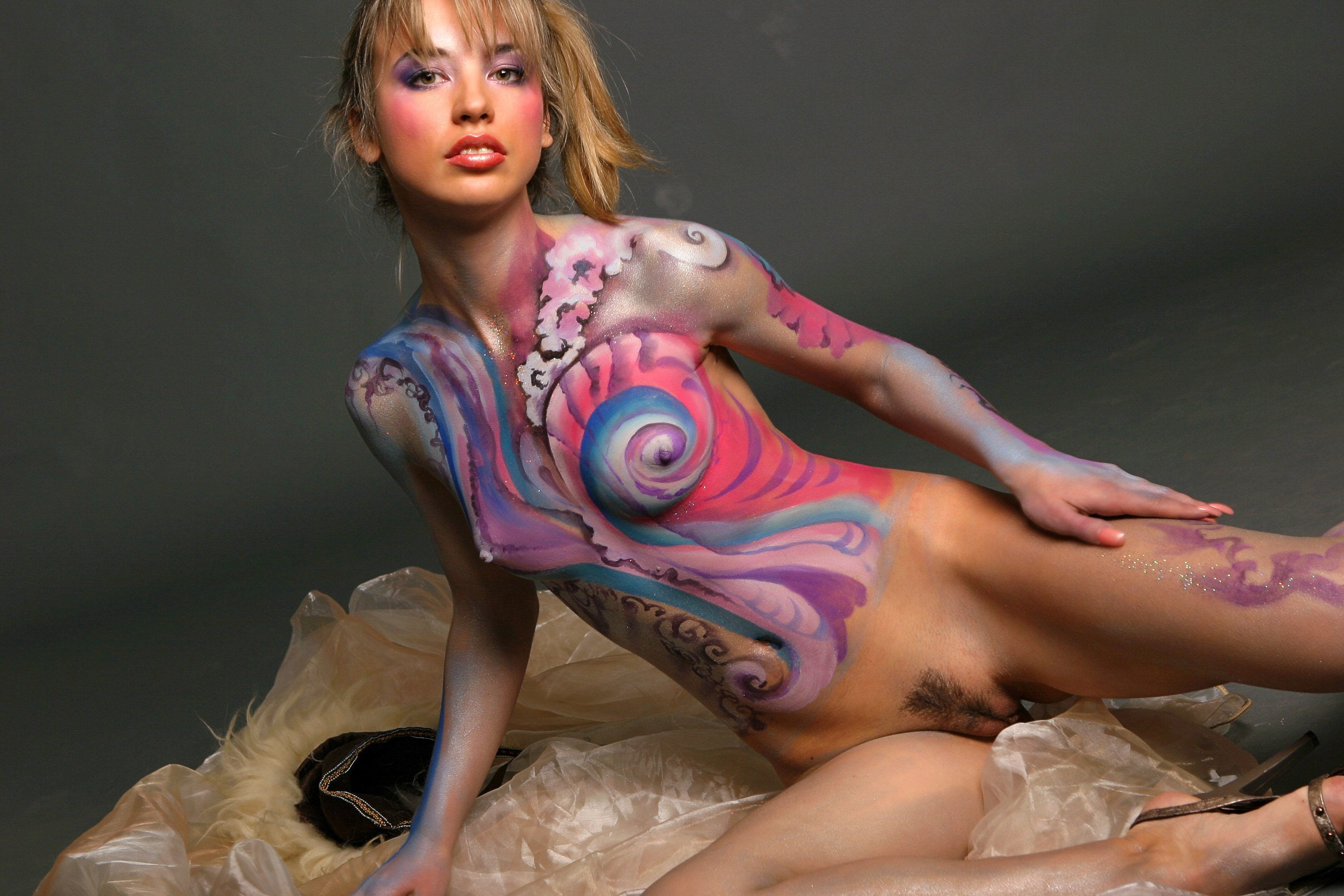 Opinion Nude body painted girl