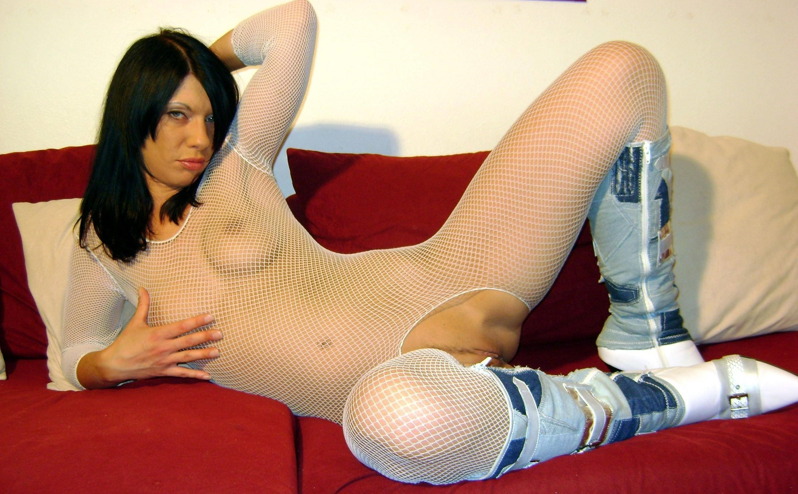 Remarkable Brunette fishnet sexy agree, this