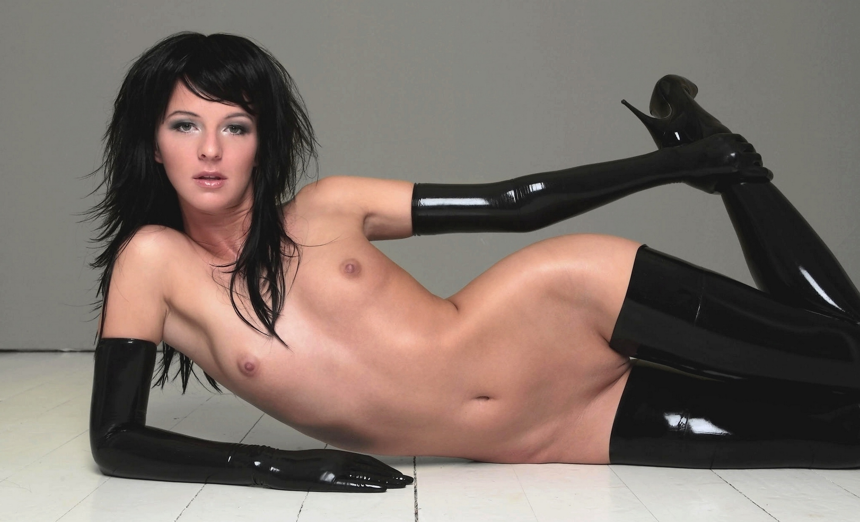 Full body latex nude models