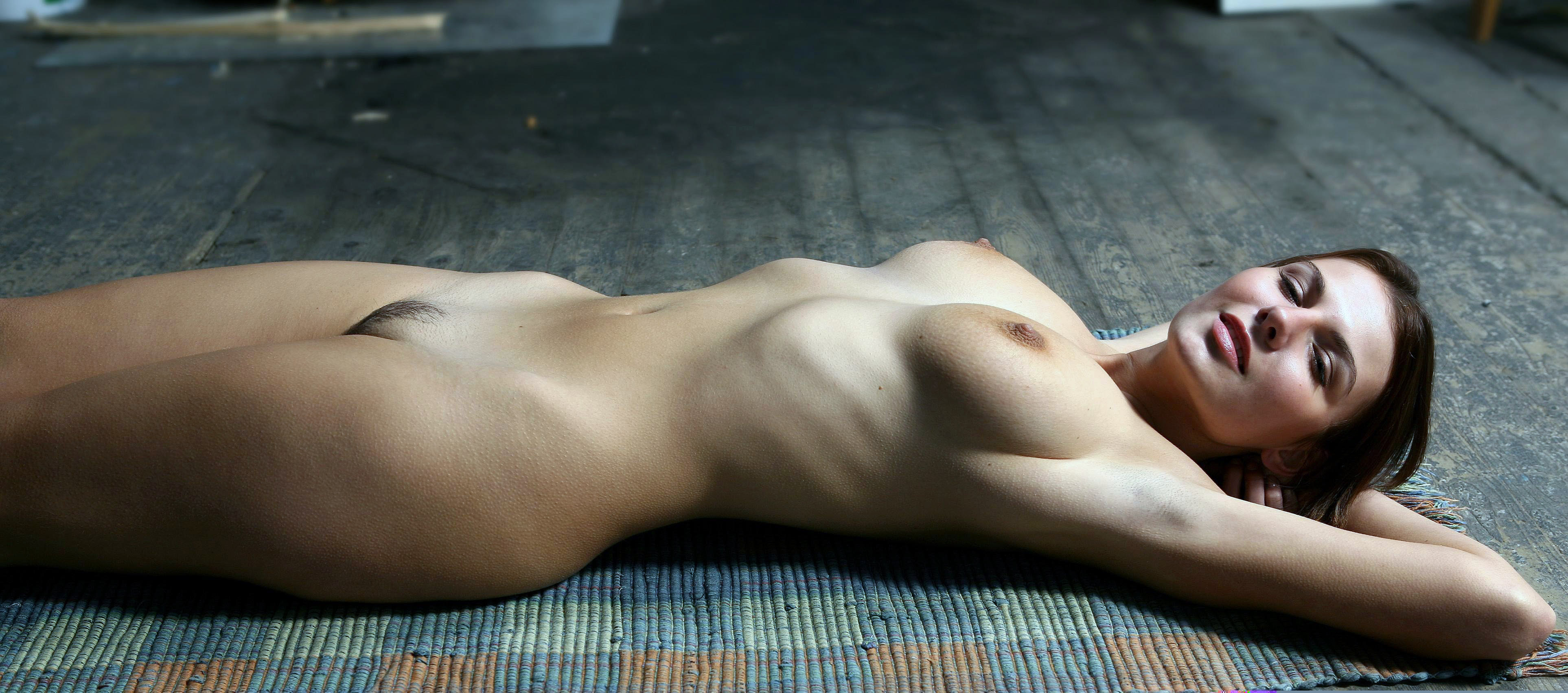Hot chick laying down naked idea