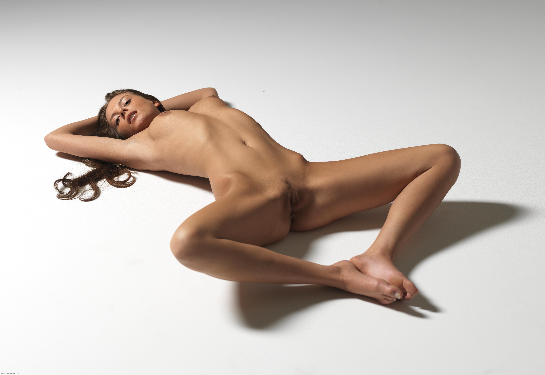 Nude girls lying on floor variant