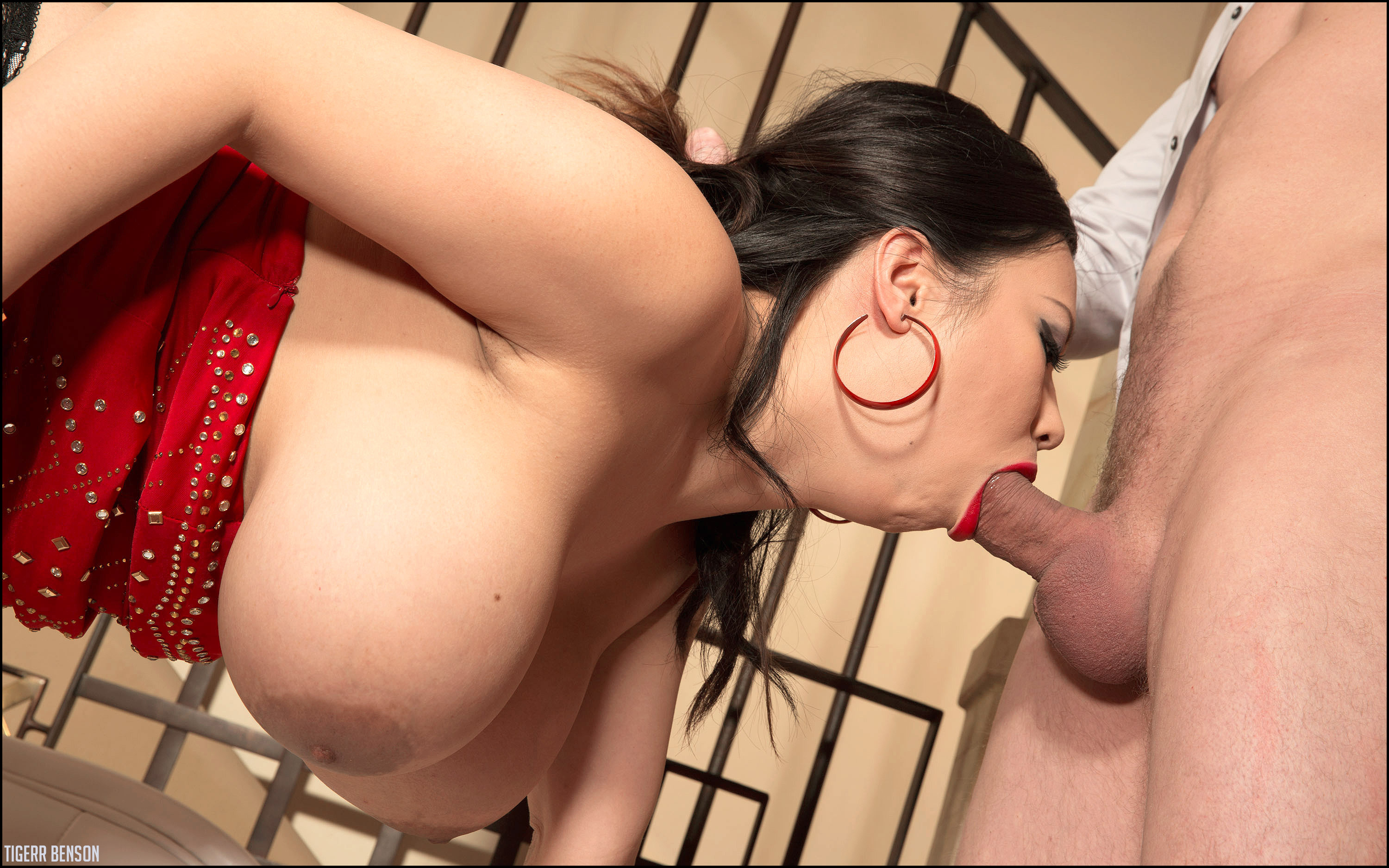 wallpaper tigerr benson blowjob big tits breasts ass