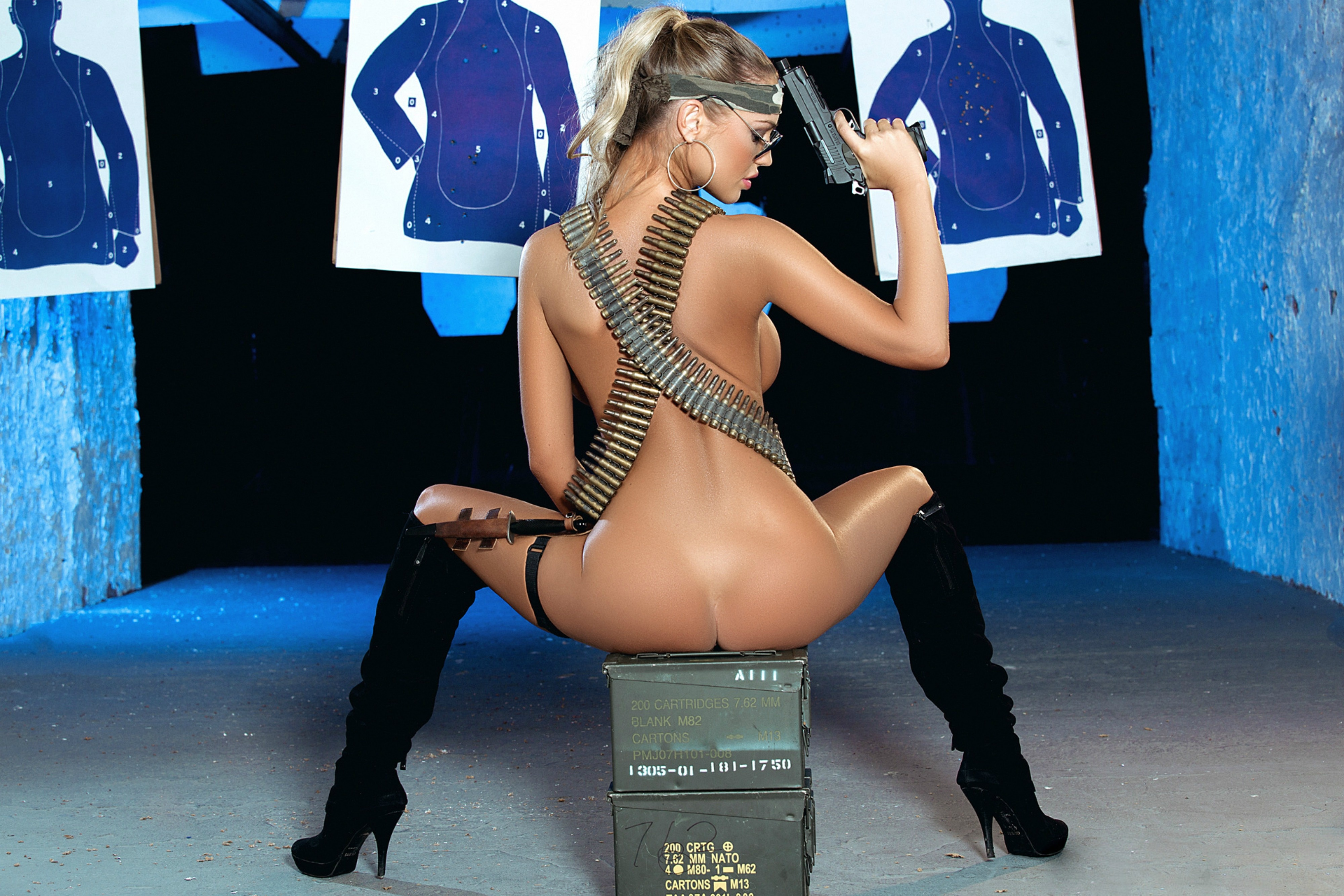 girls nude in hip boots