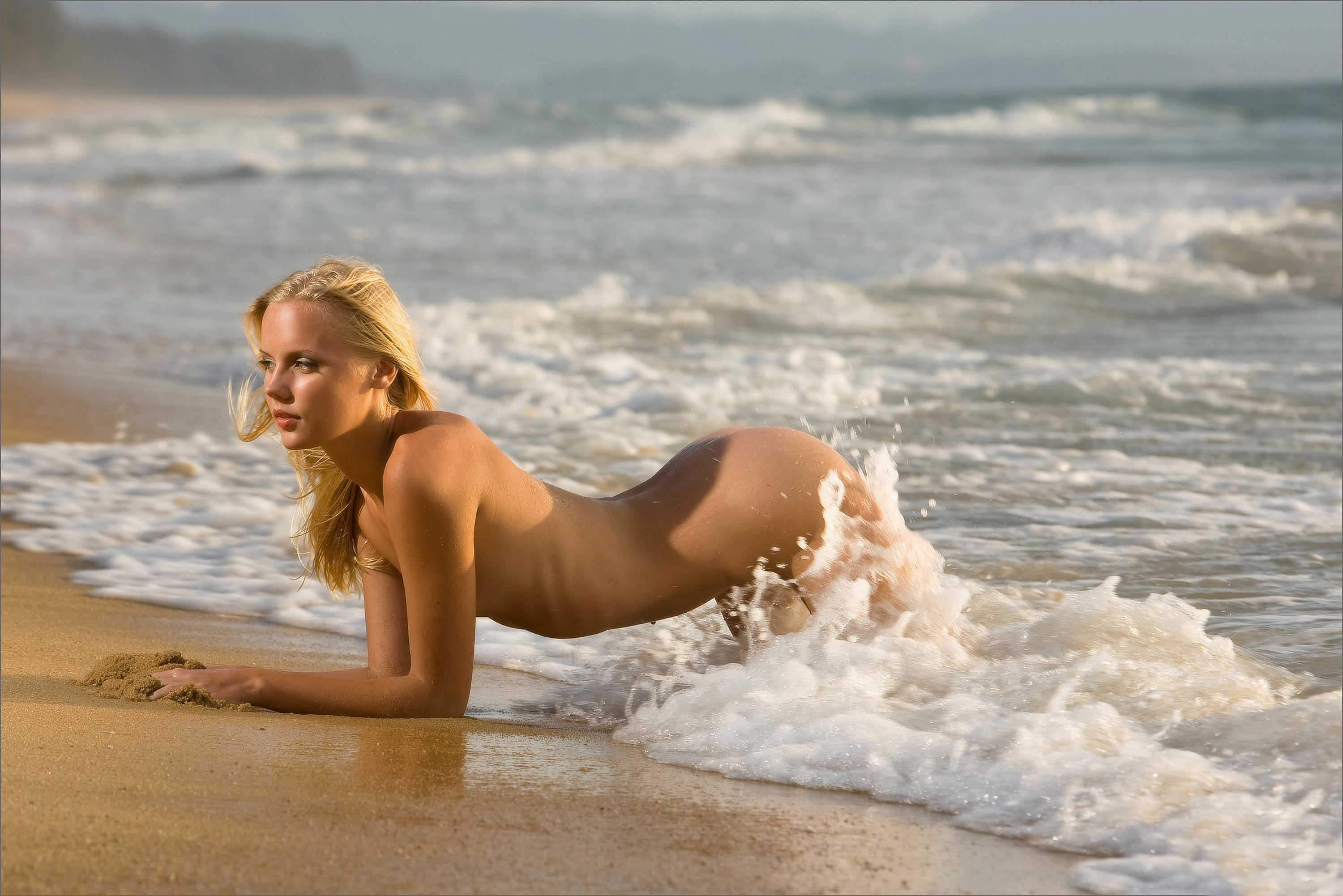 Classic sexy nude on the beach, xxxlongdong does all