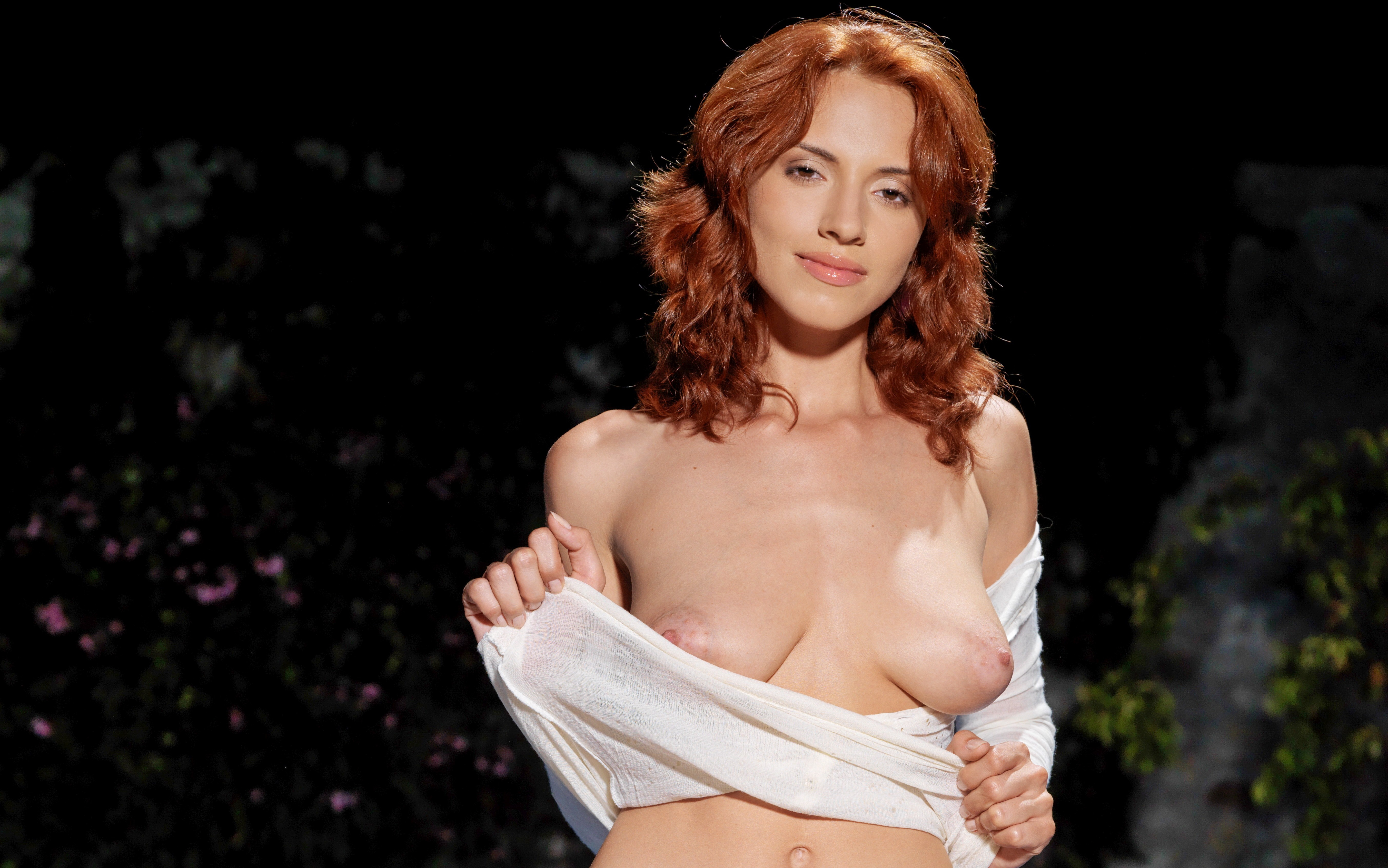 What excellent redhead bra nipples seems excellent