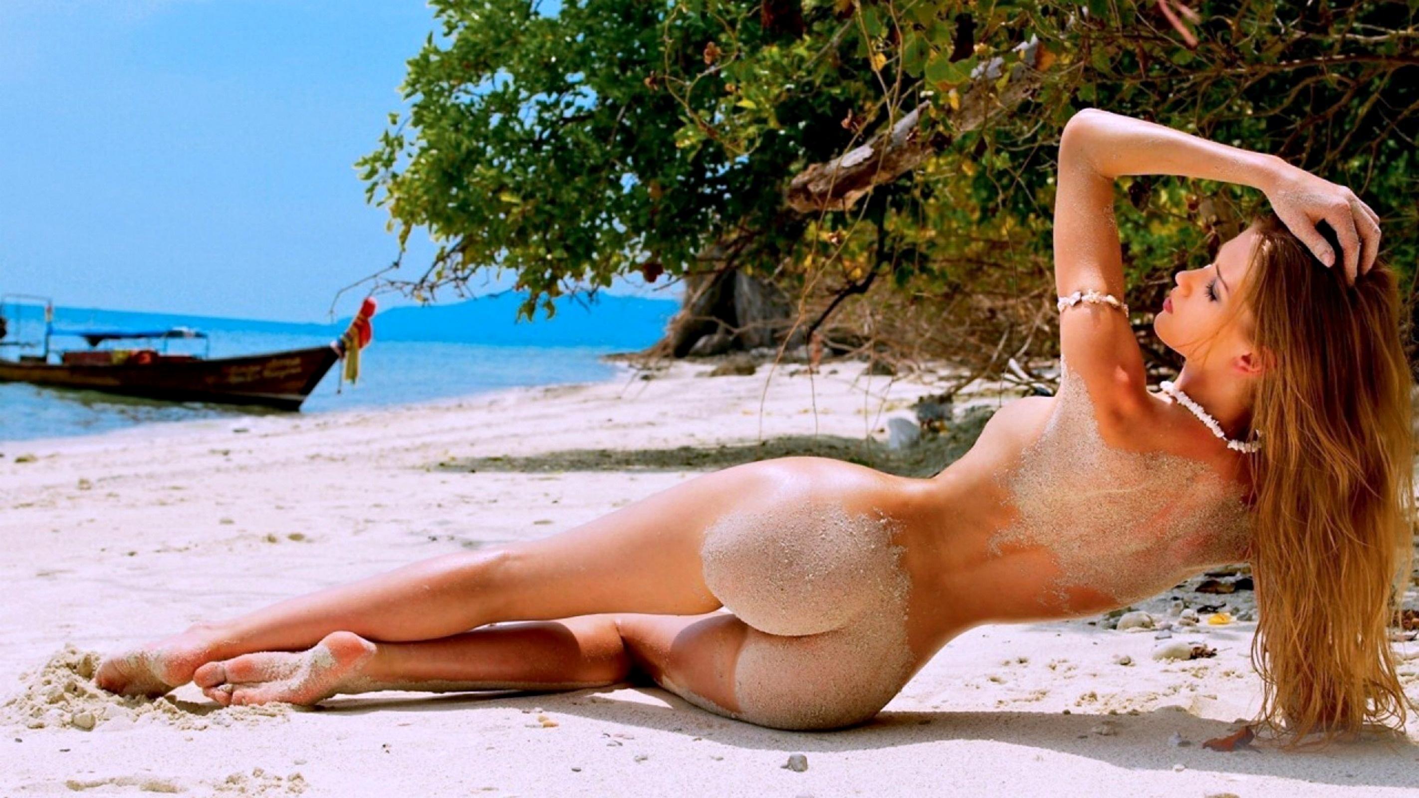 Голые Девушки На Пляже Обои