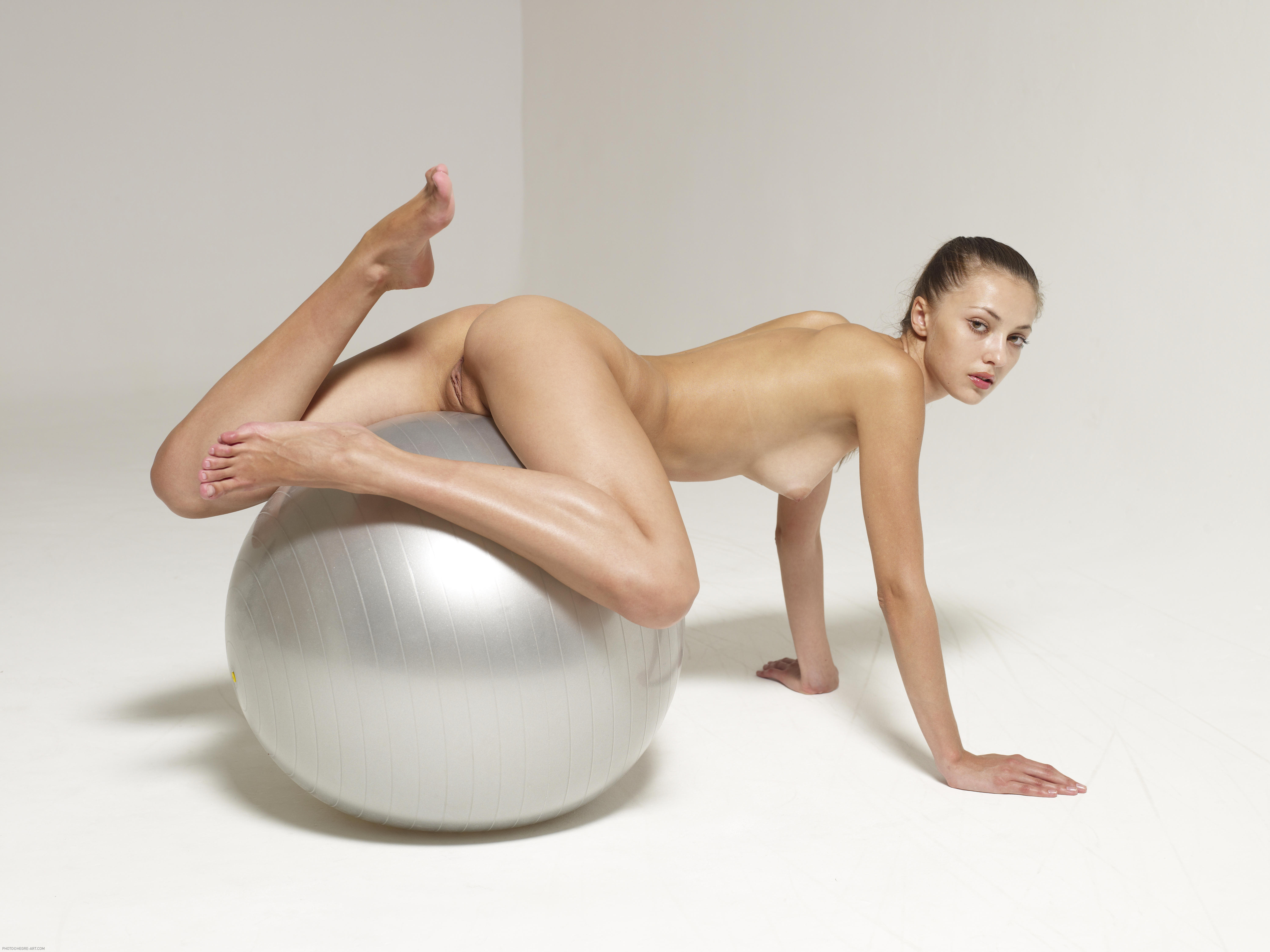 exercise ball naked