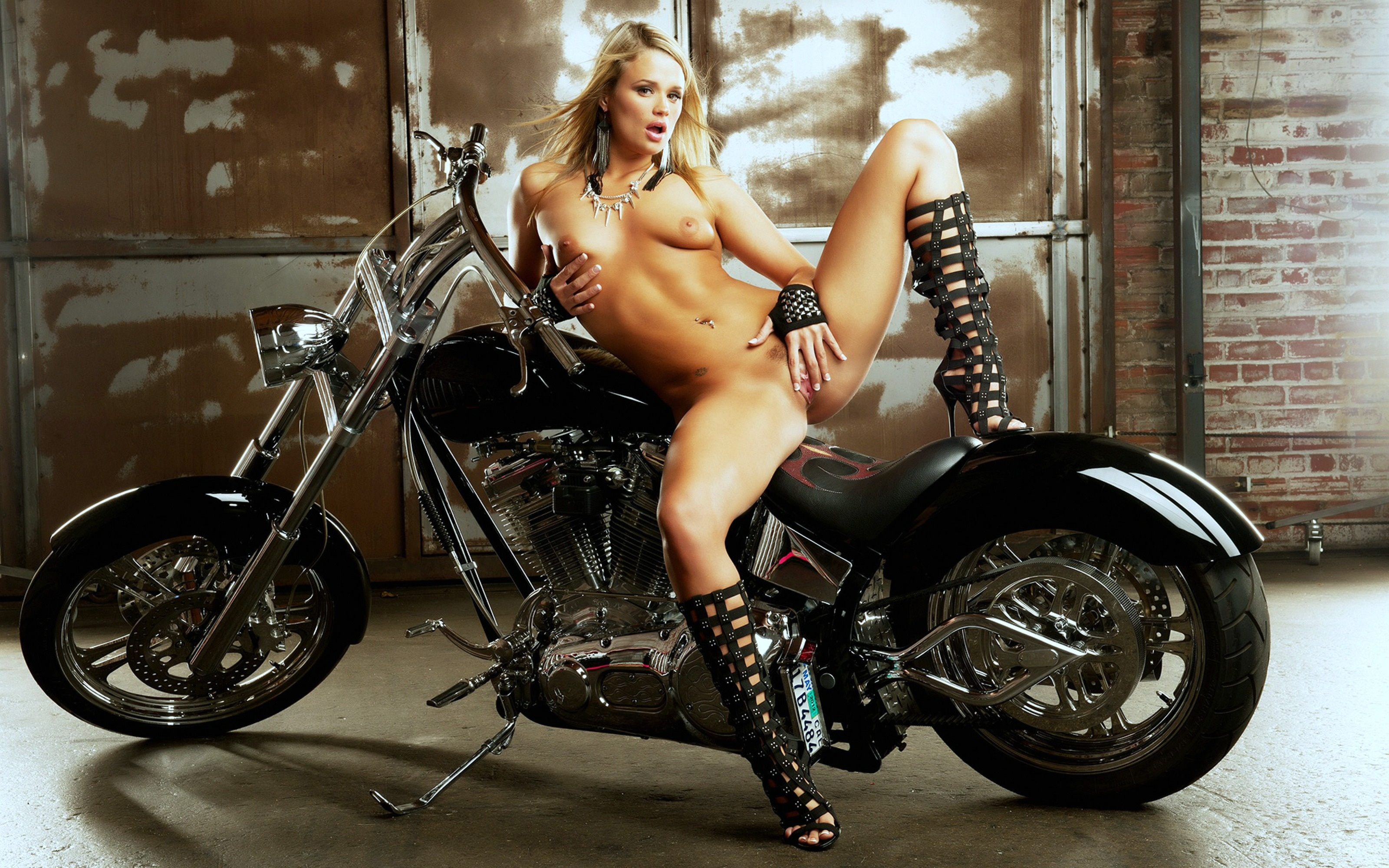 Having sex girls motorcycles naked on