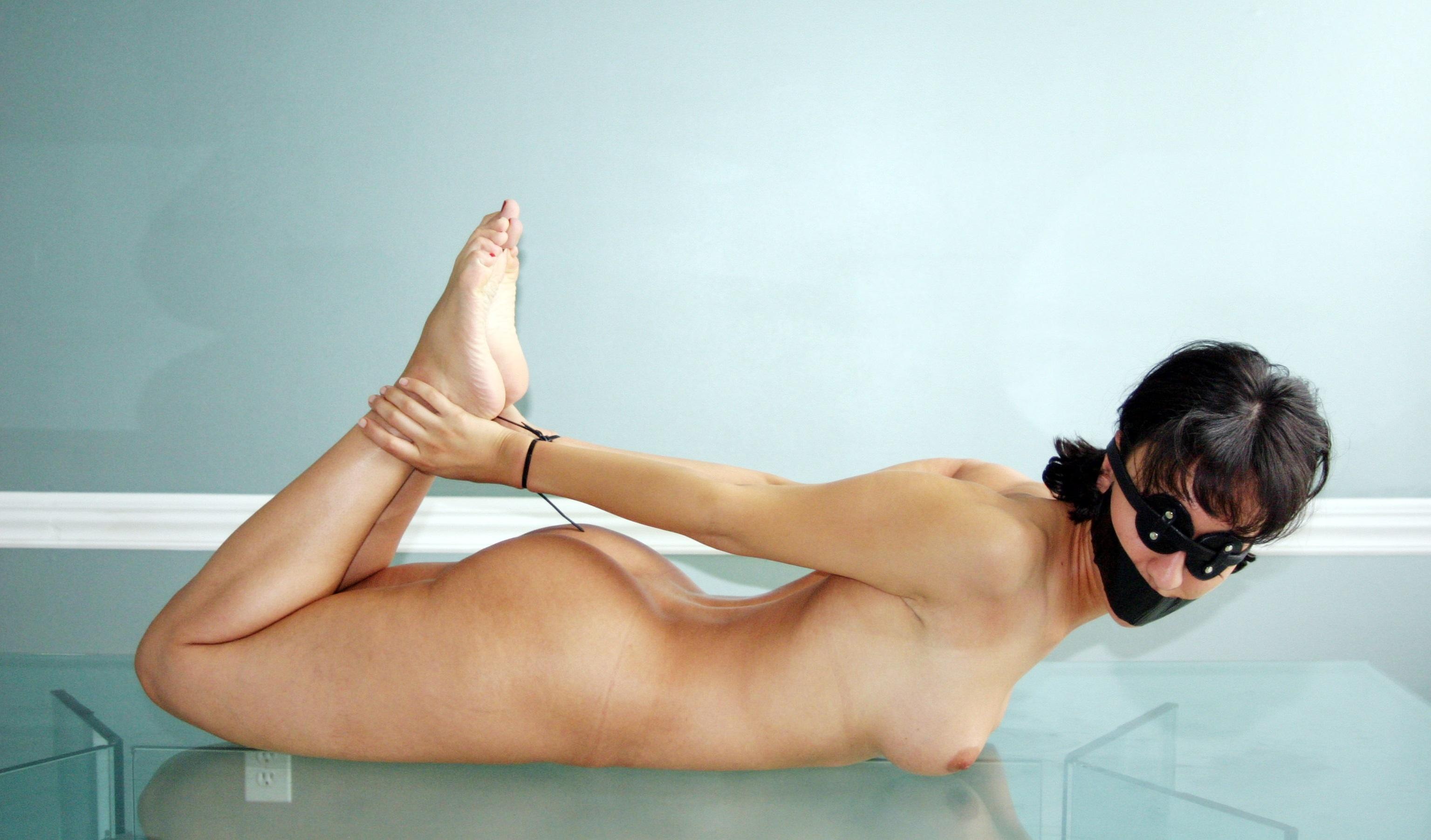 nude bondage Amateur brunette